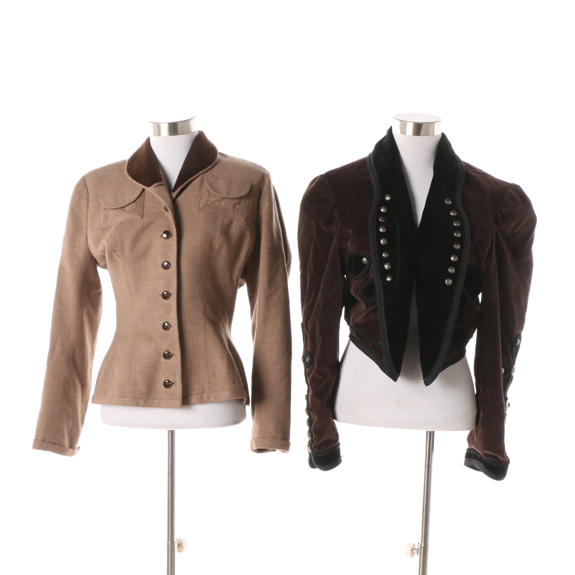 Women's Vintage Riders Through the Century and Julius Garfinckel & Co. Jackets