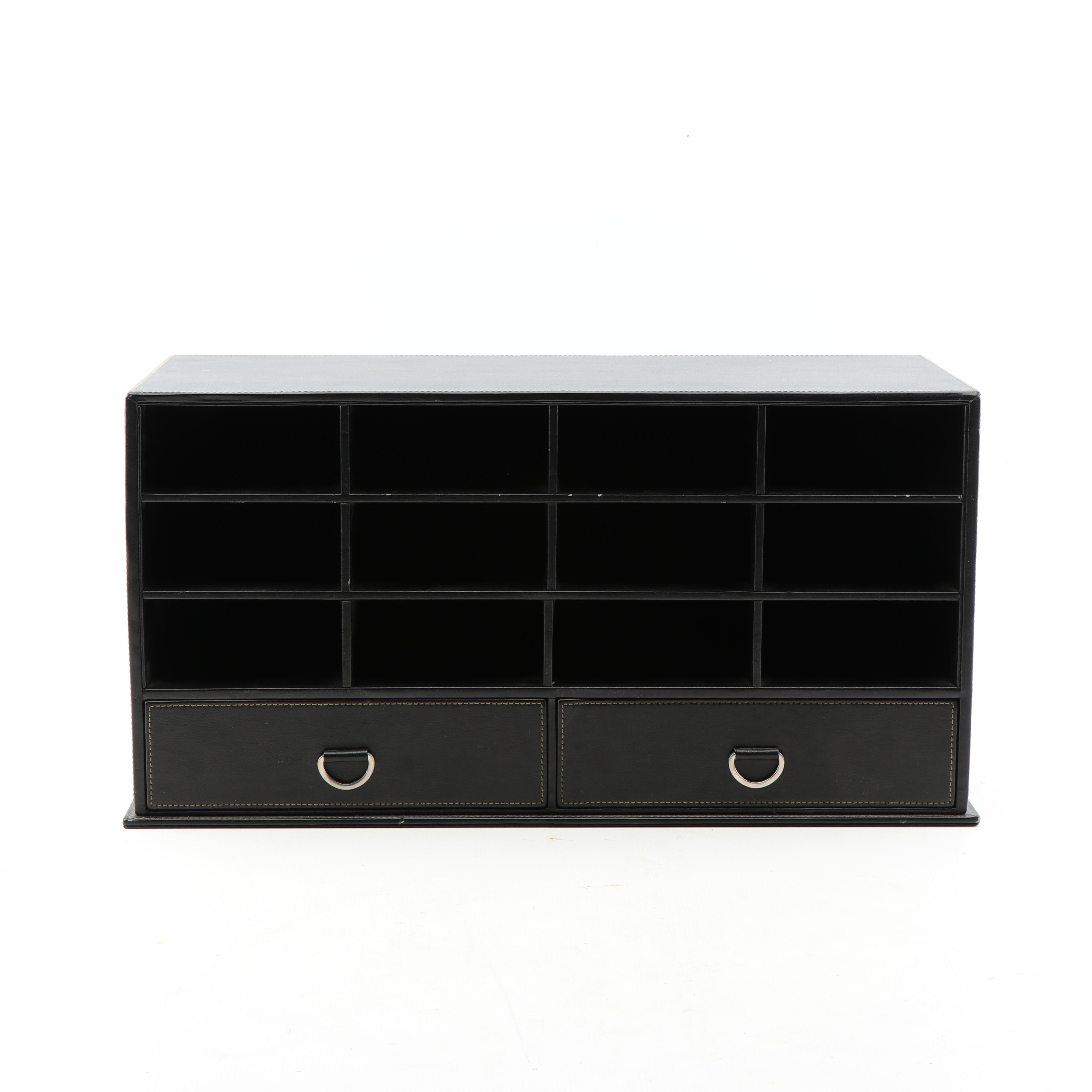 Milano Series Leather Desk Valet