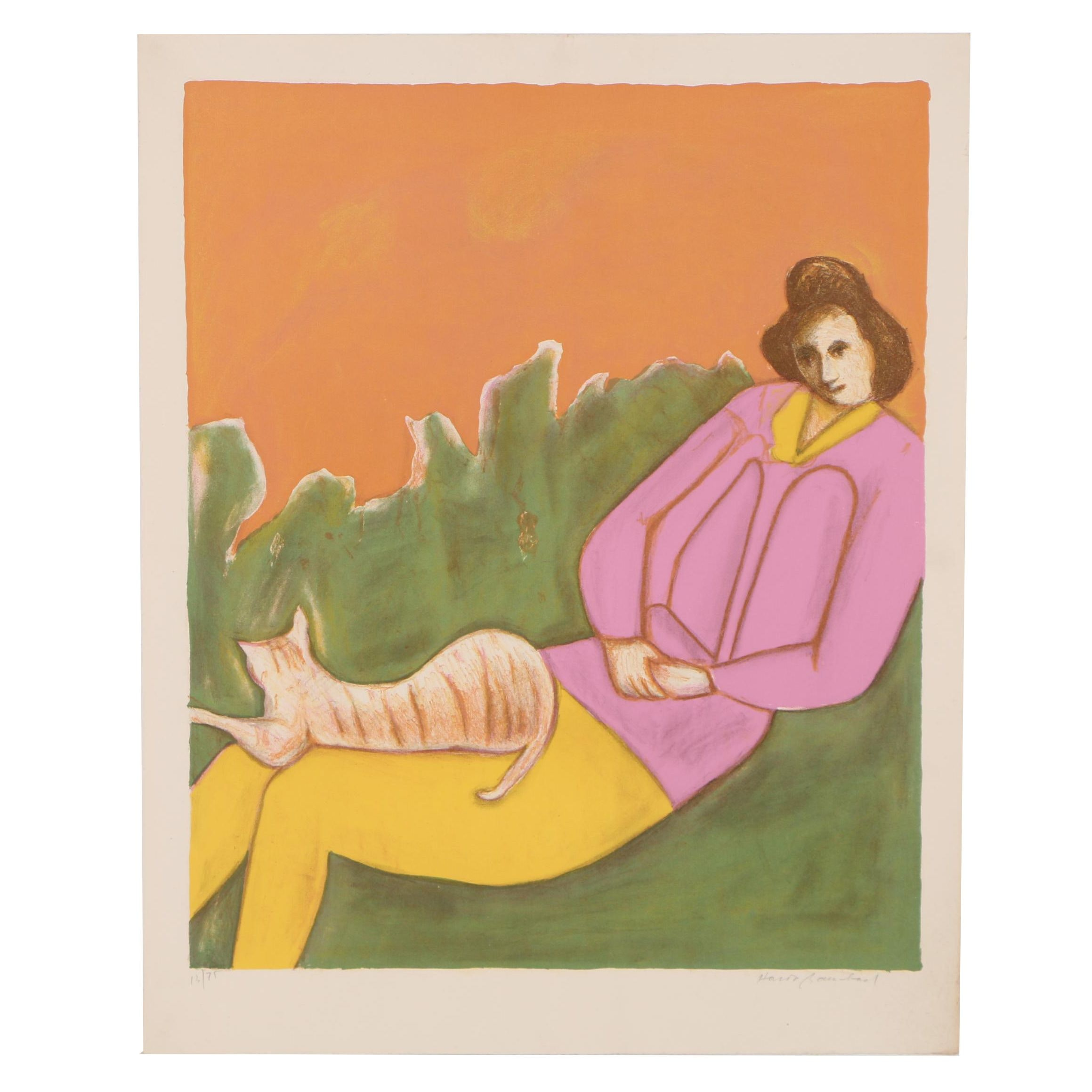 Harold Baumbach Color Lithograph