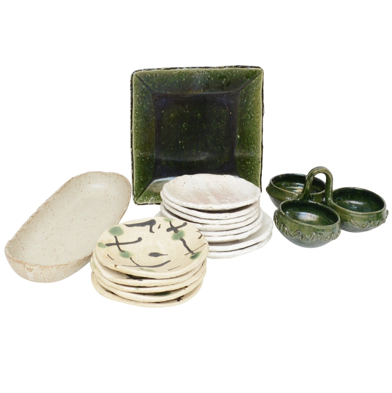 Japanese Signed Pottery Tableware