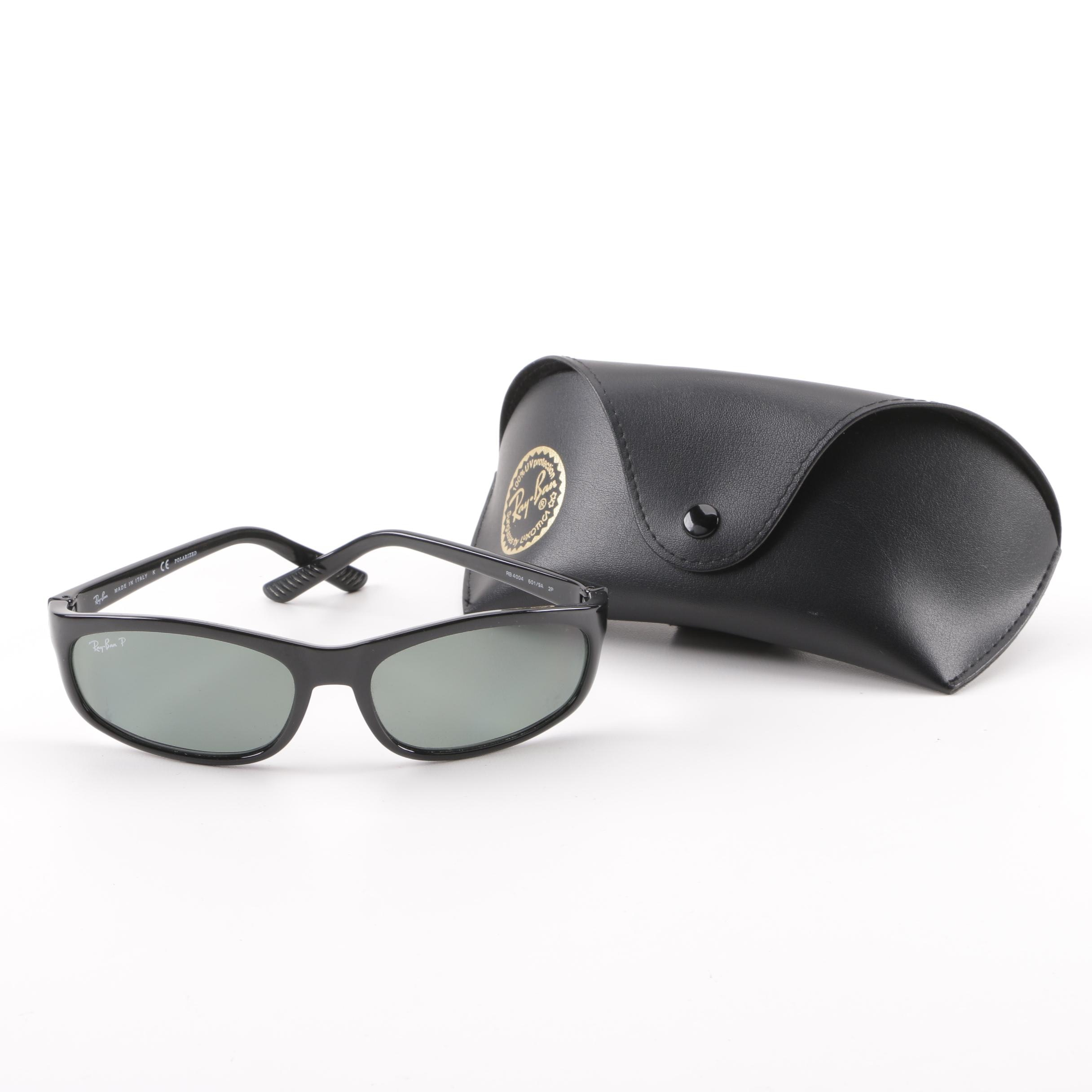 Ray-Ban RB 4004 Black Polarized Sunglasses with Case