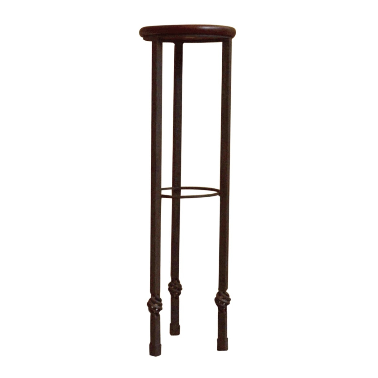Contemporary Wrought Iron Pedestal Stand