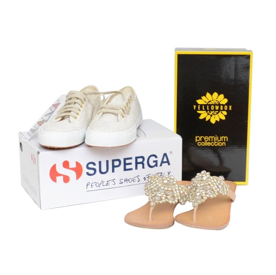 Superga Sneakers and Yellowbox Sandals