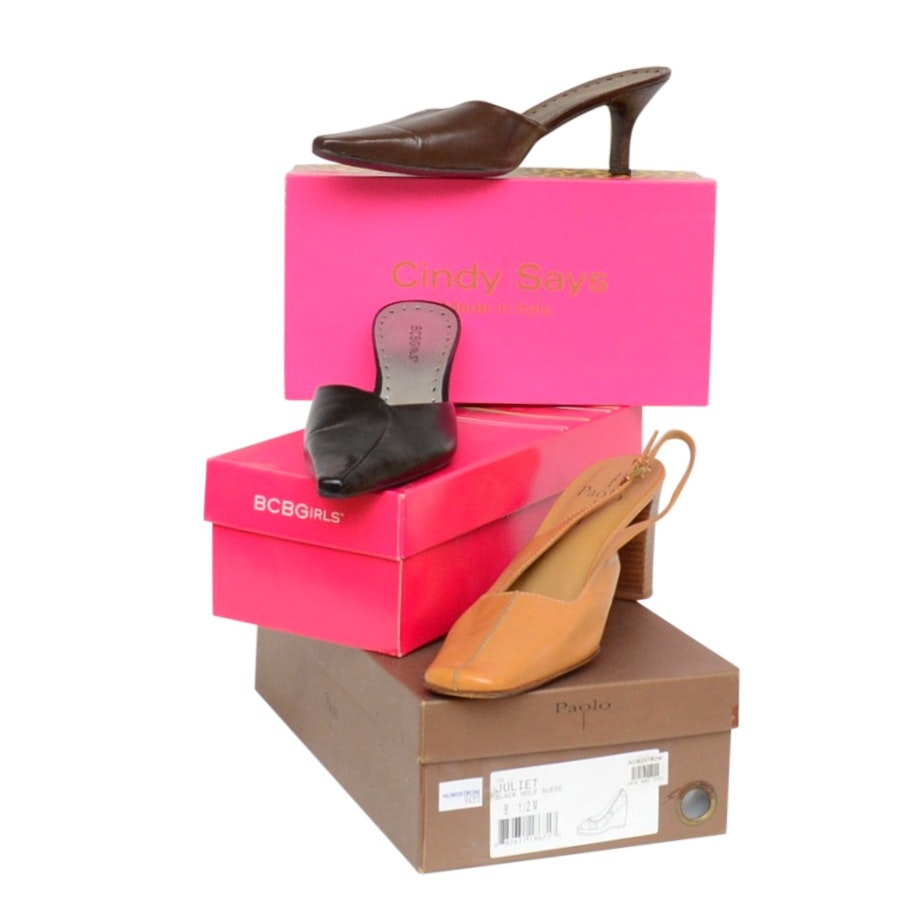 Linea Paolo and Two Pair of BCBGirls Heels