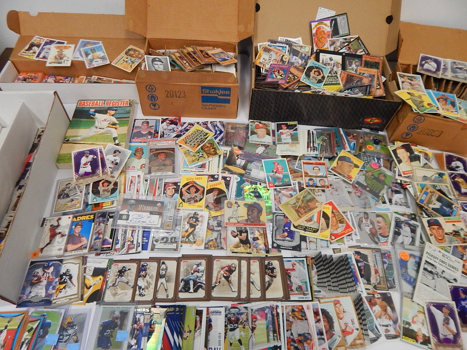 Large Sports Card Collection with 1955 Tops Hank Aaron #47