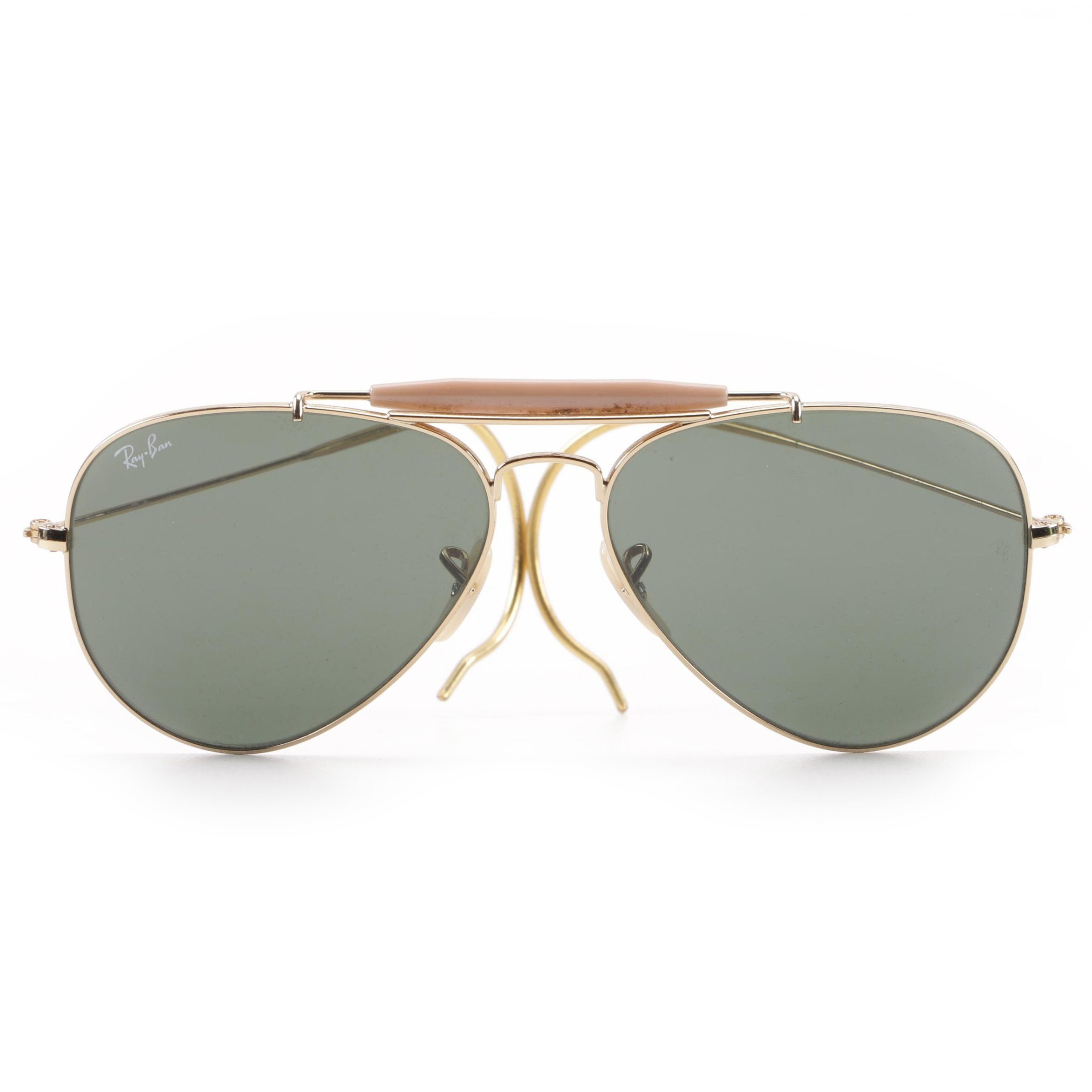 Ray-Ban Outdoorsman Aviator Sunglasses and Brown Case
