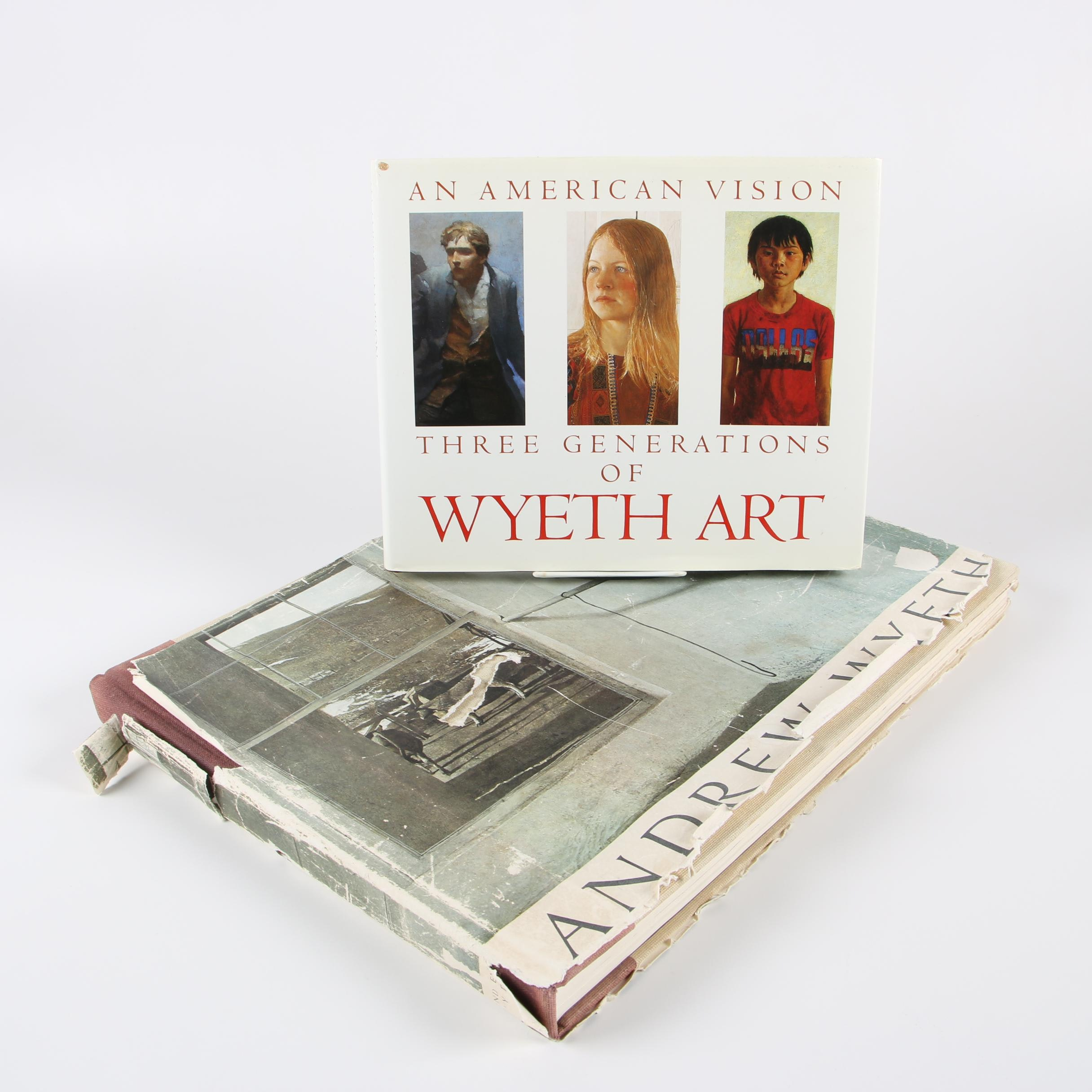 "Wyeth Art Books featuring 1968 Second Printing ""Andrew Wyeth"" by Richard Meryman"