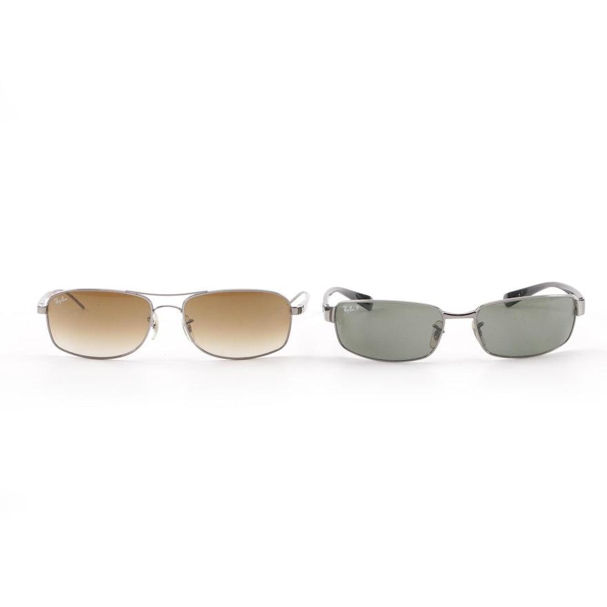 bb01bdddda4 Ray-Ban RB 3364 Polarized and RB 3484 Non-Polarized Metal Framed Sunglasses    EBTH