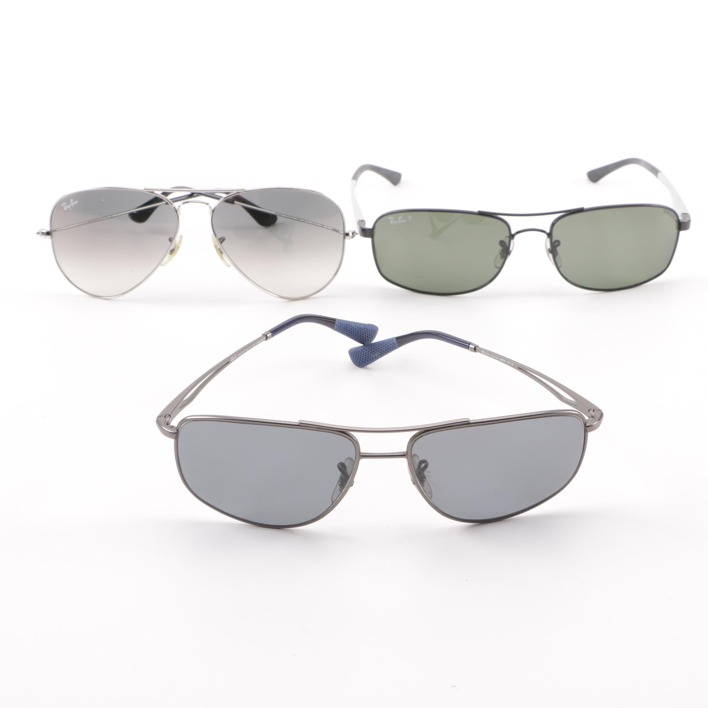 Ray-Ban Aviator and Metal-Framed Sunglasses including Polarized Lenses
