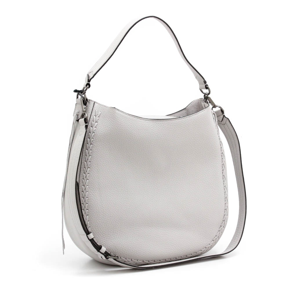Rebecca Minkoff Putty Pebbled Leather Convertible Hobo Shoulder Bag