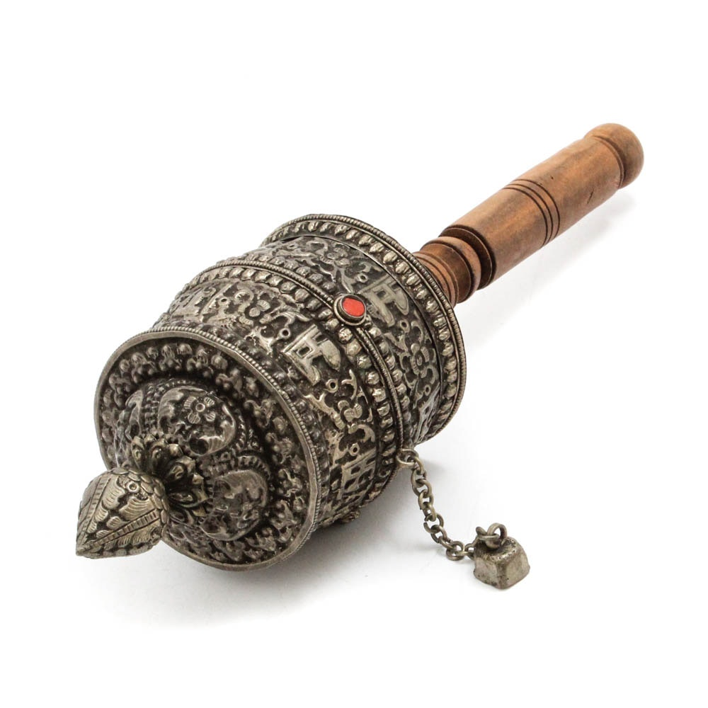 Tibetan Buddhist Mani Hand Prayer Wheel