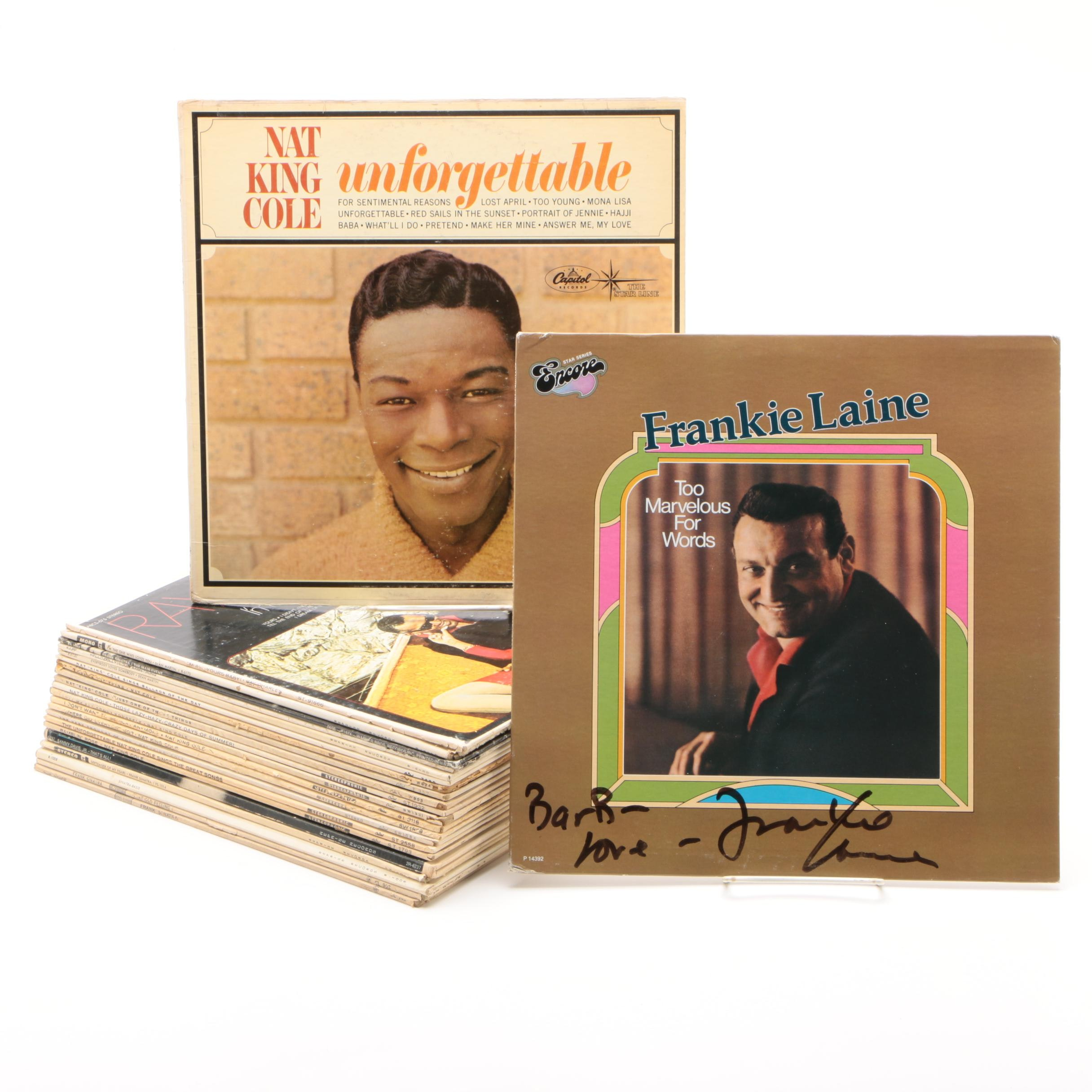 """Signed Frankie Laine """"Too Marvelous For Words"""" Album and Other Records"""