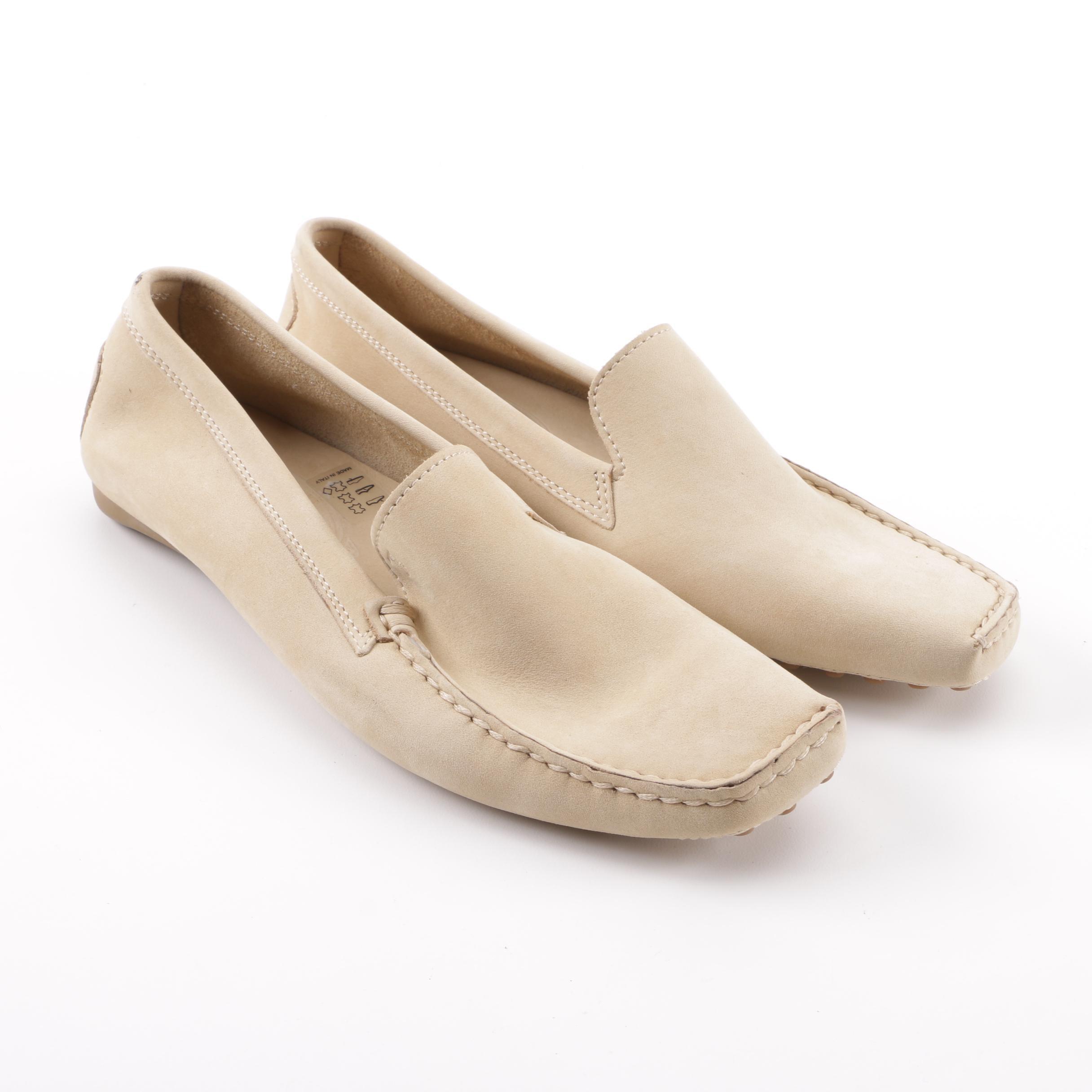 Women's Tod's Beige Suede Loafers