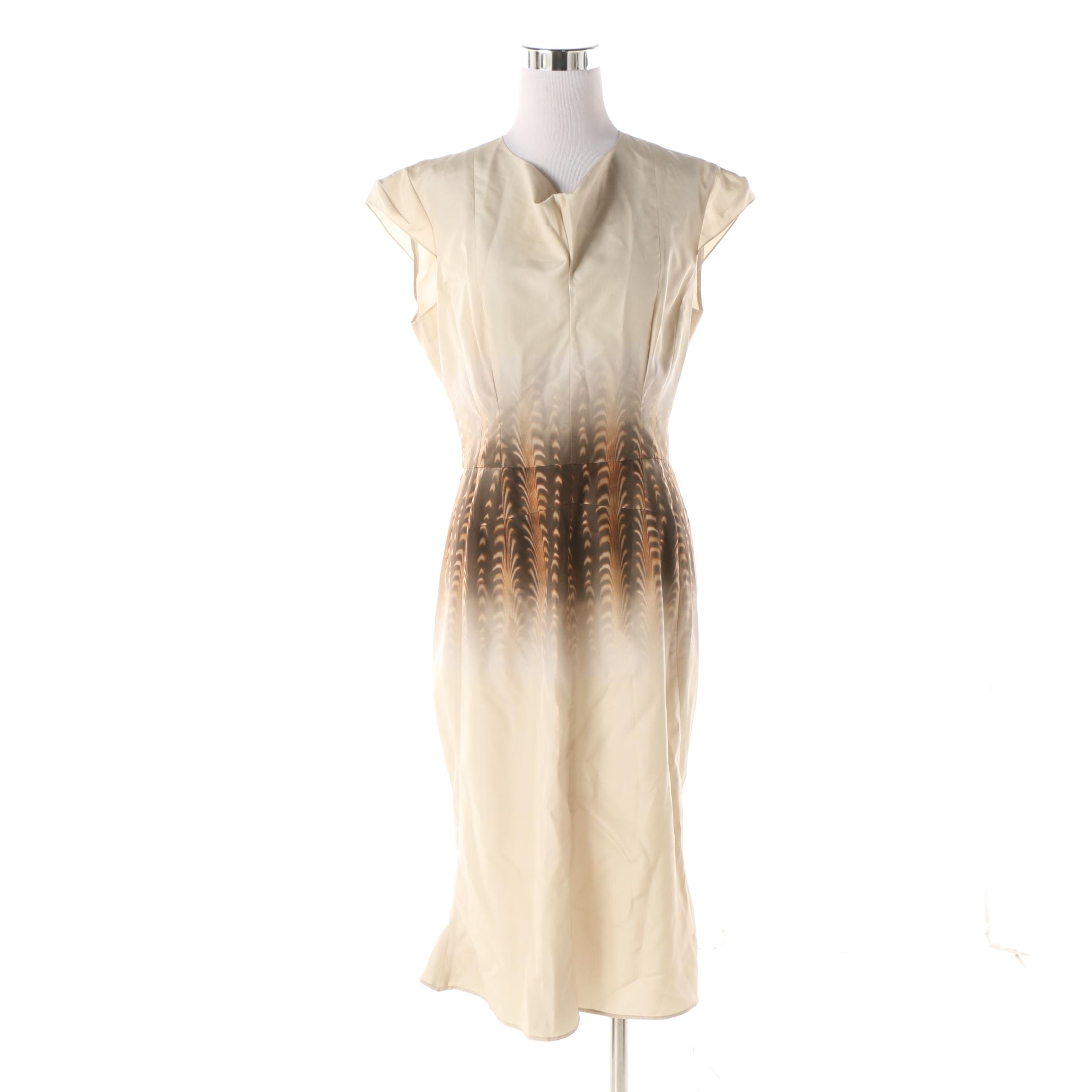 Women's Vintage Yves Saint Laurent Silk Flare Skirt Midi Dress
