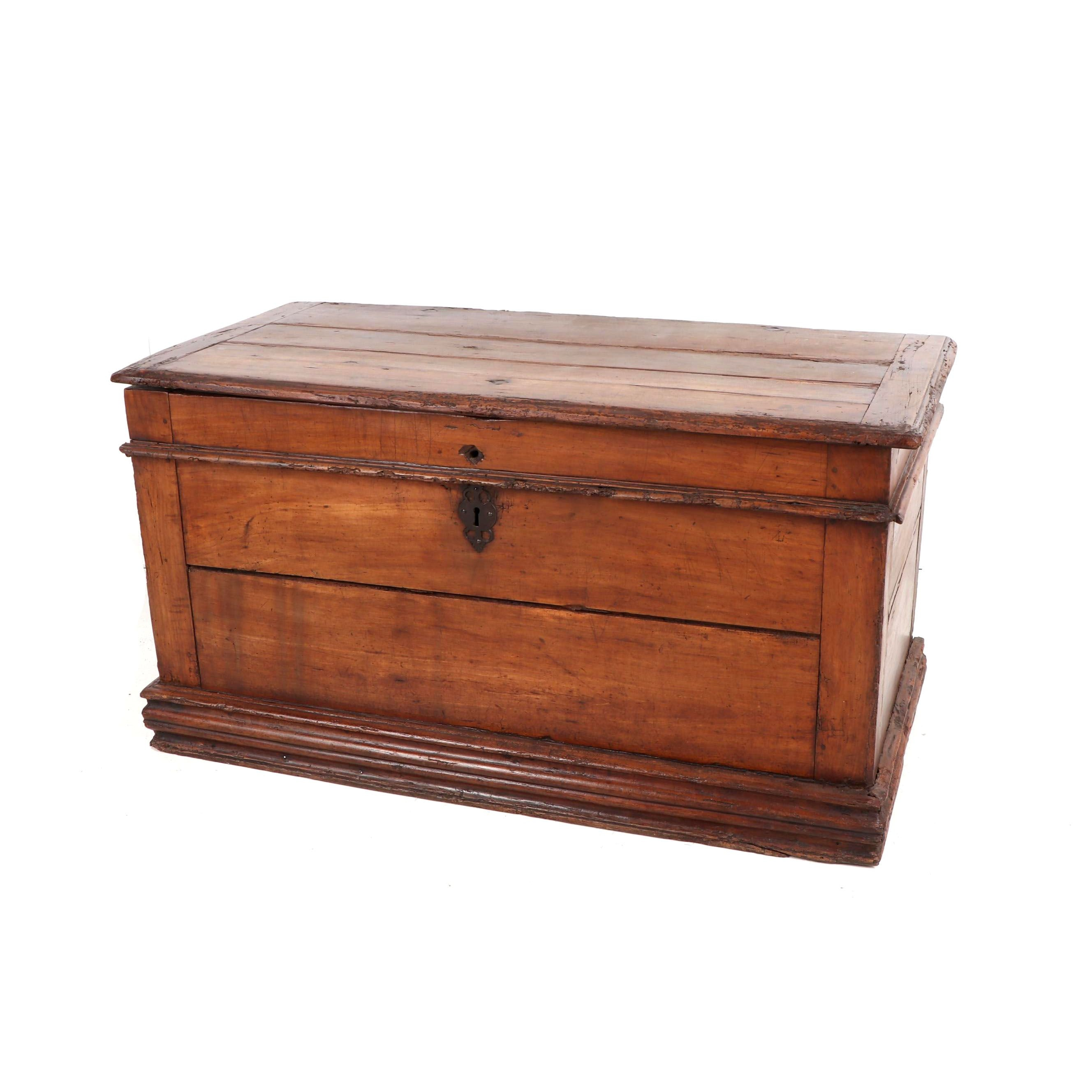 Wood Chest with Till Box, Early 19th Century