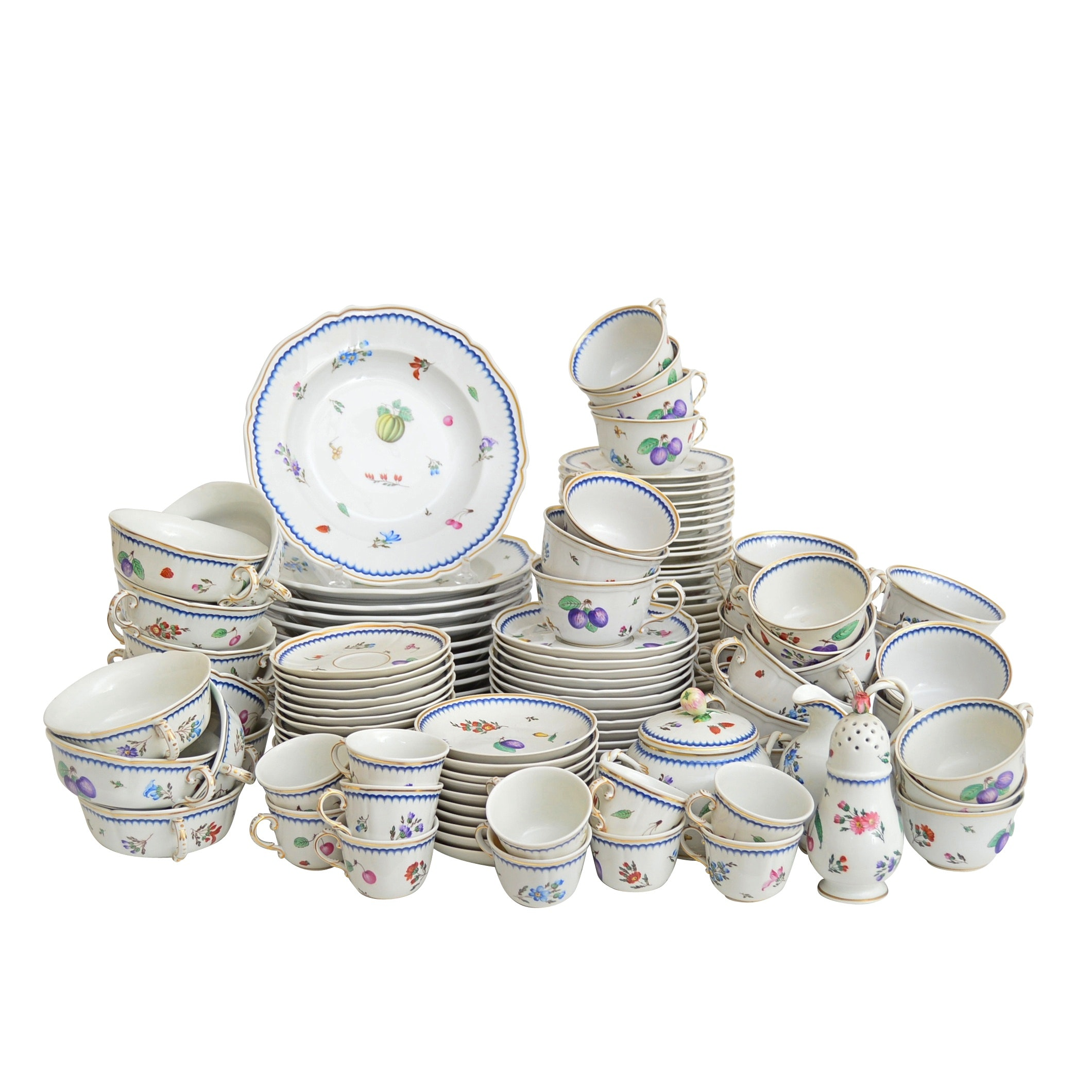 "Set of Richard Ginori ""Pittorio di Doccia"" Porcelain Dinnerware"