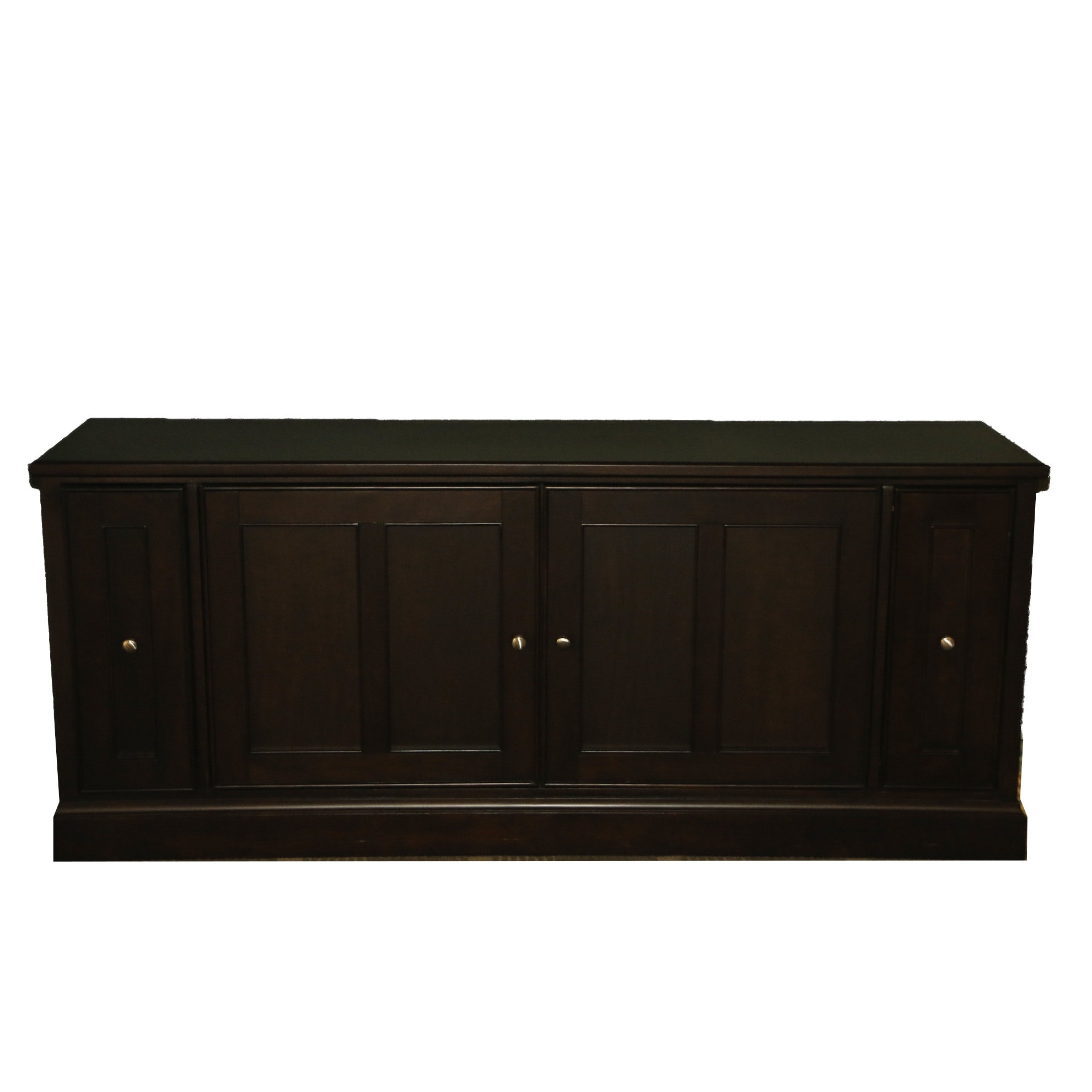 Contemporary Mahogany Stained Wood Sideboard