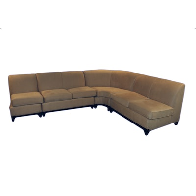 Contemporary Upholstered Sectional Sofa By Rowe