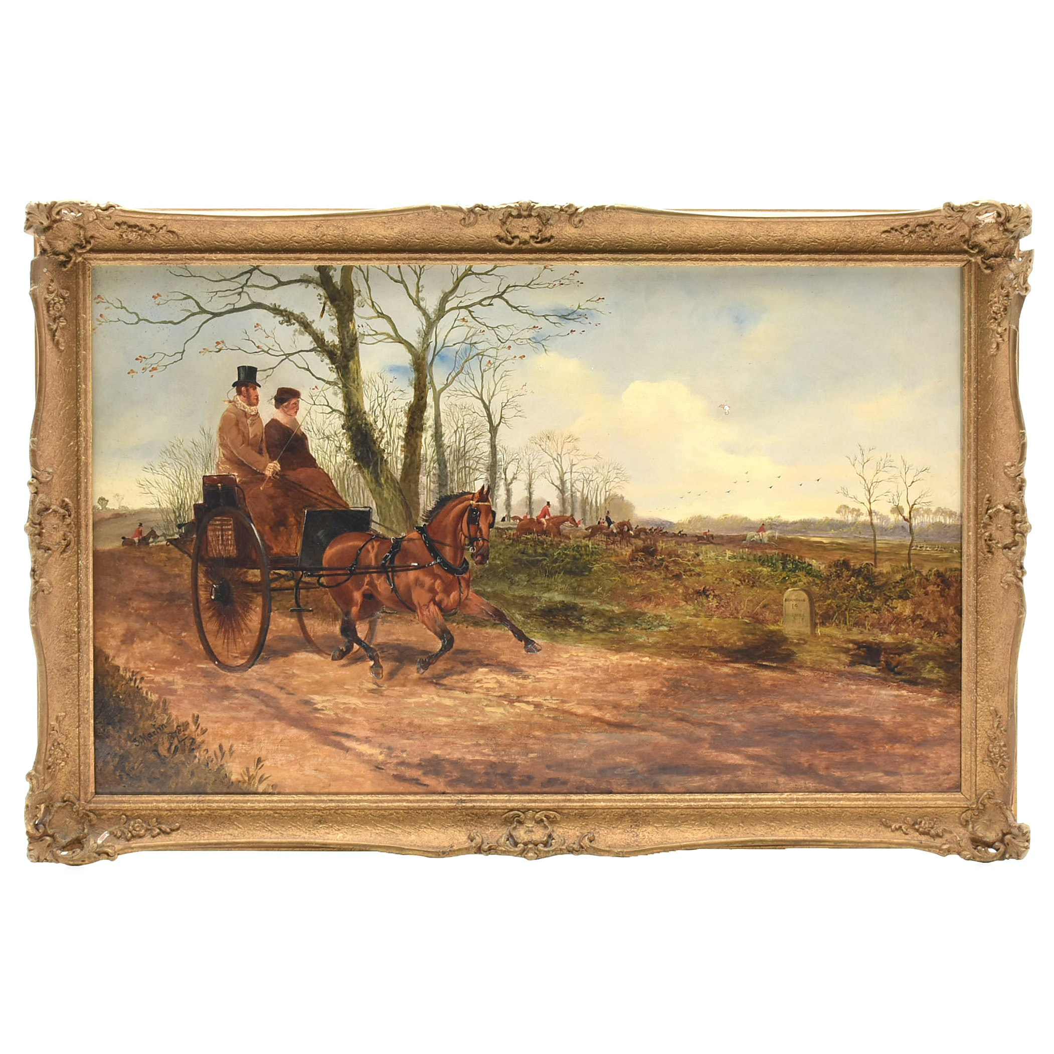 Sylvester Martin 1878 Oil Painting