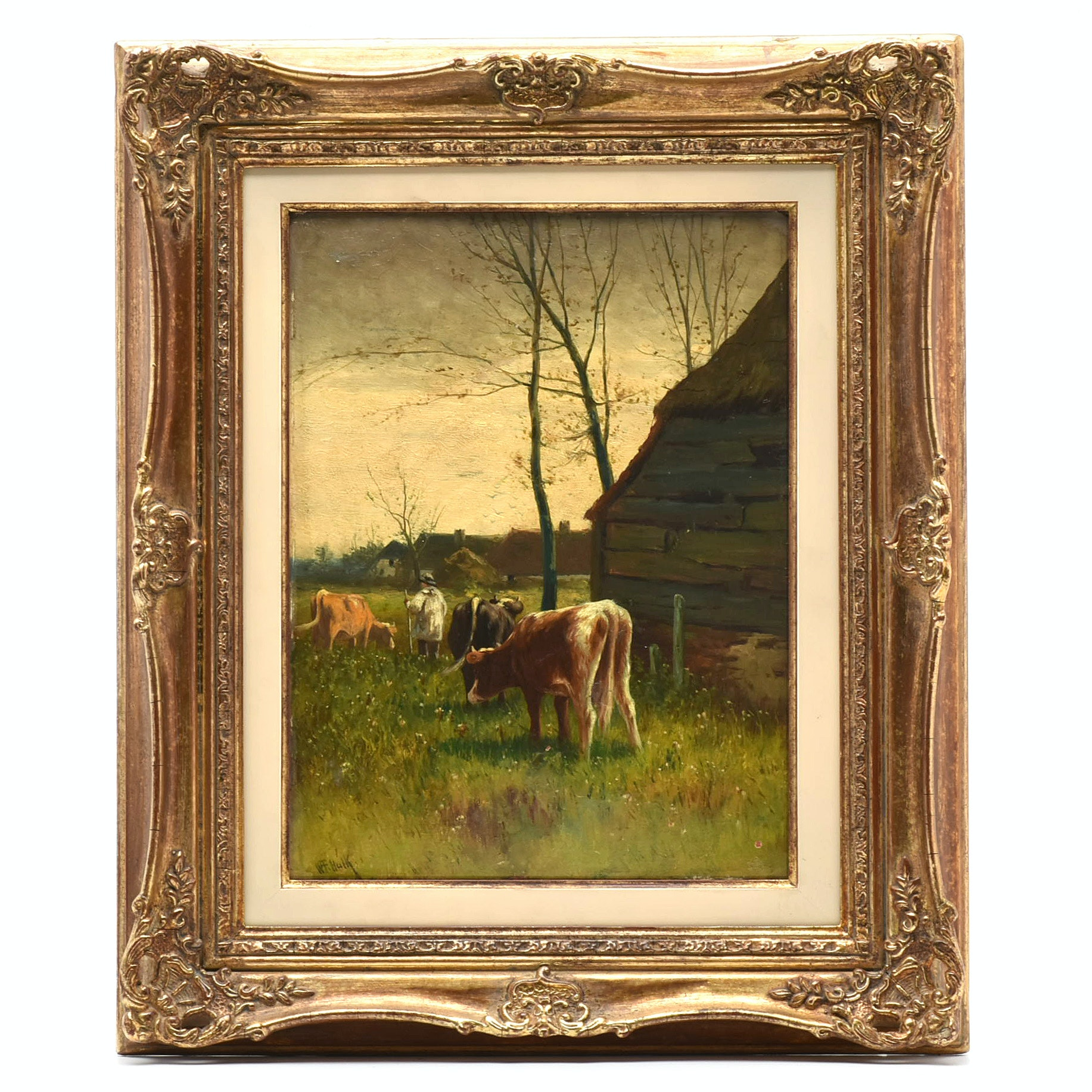 William Frederick Hulk Late 19th Century Oil Painting