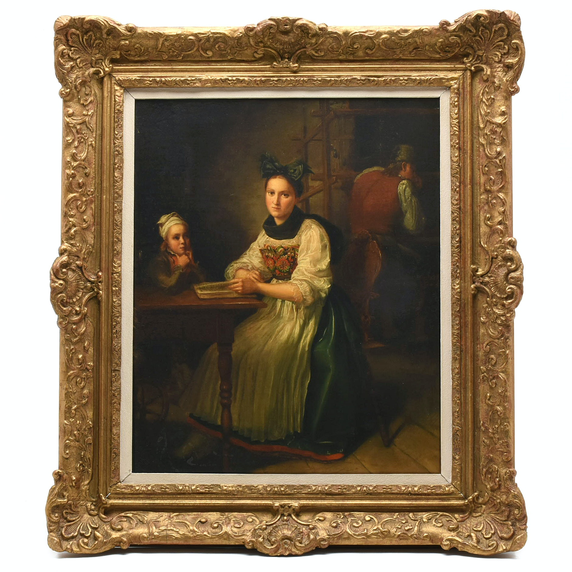 19th Century Dutch School Oil Painting on Canvas