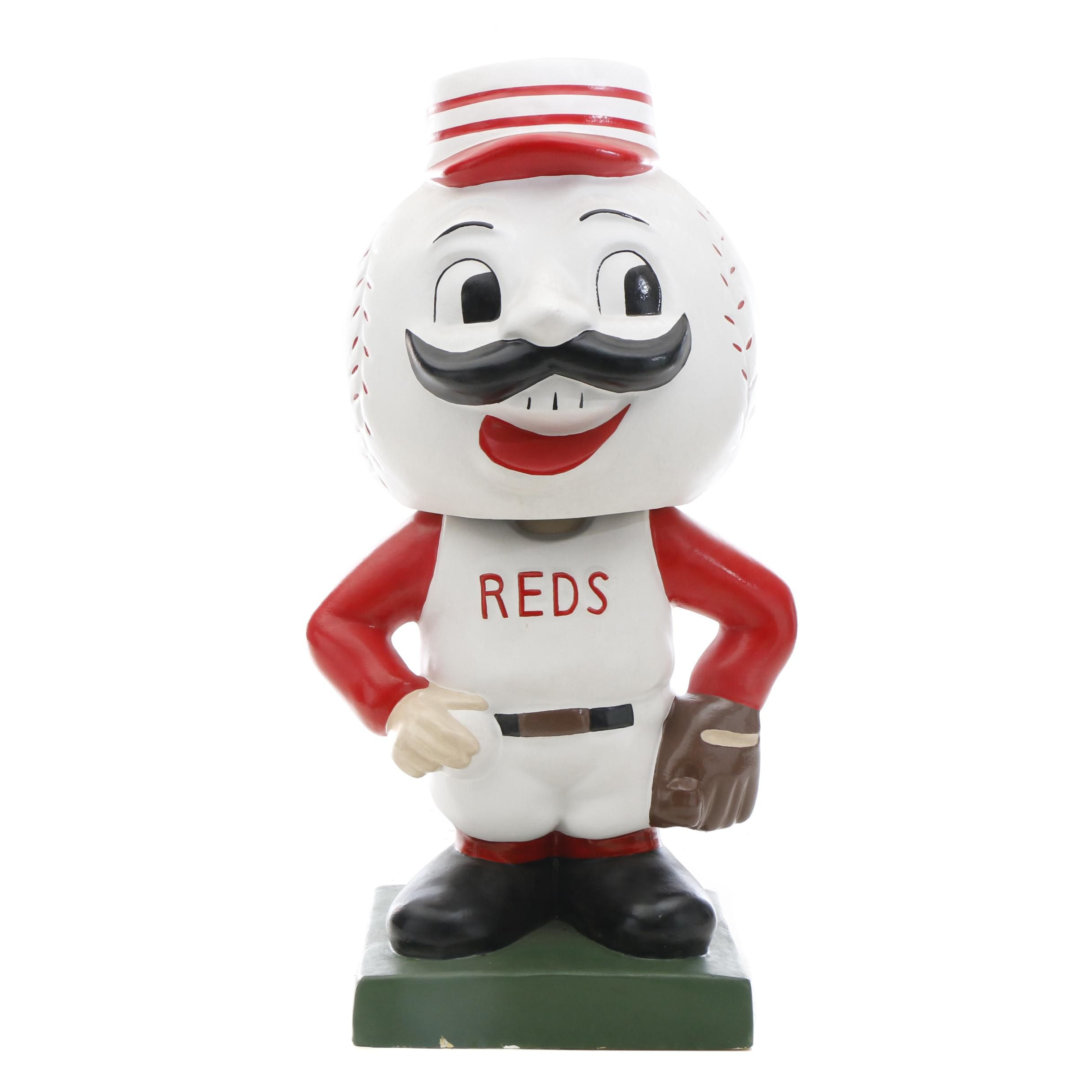 """Massive 2016 """"Mr. Redlegs"""" Exhibit Bobblehead Doll From Reds Hall of Fame"""