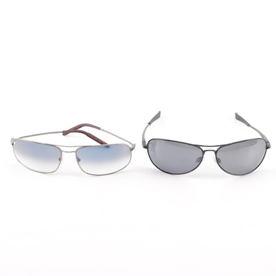 5242075798c Revo Transom Polarized Aviators and Mosley Tribes Gradient Lens Sunglasses