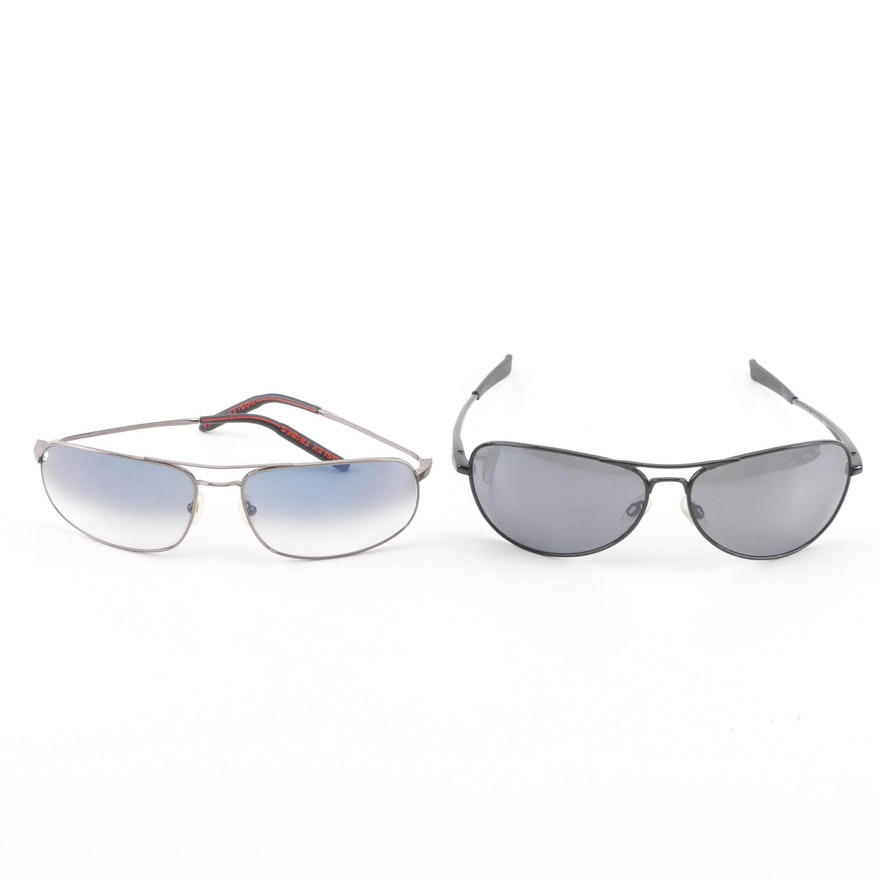 73b1d3c72a72a Revo Transom Polarized Aviators and Mosley Tribes Gradient Lens Sunglasses  ...
