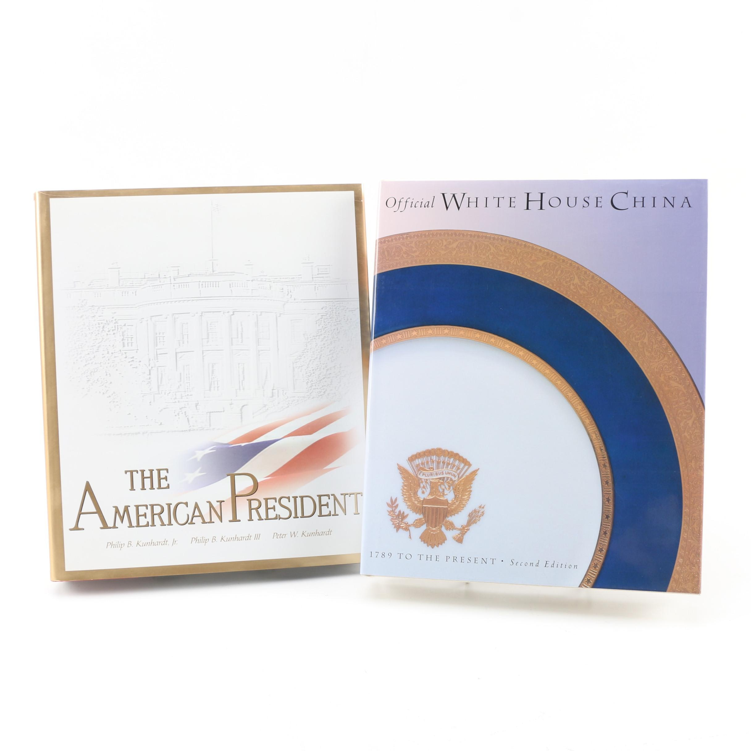 "1999 ""The American President"" and ""Official White House China"" Books"