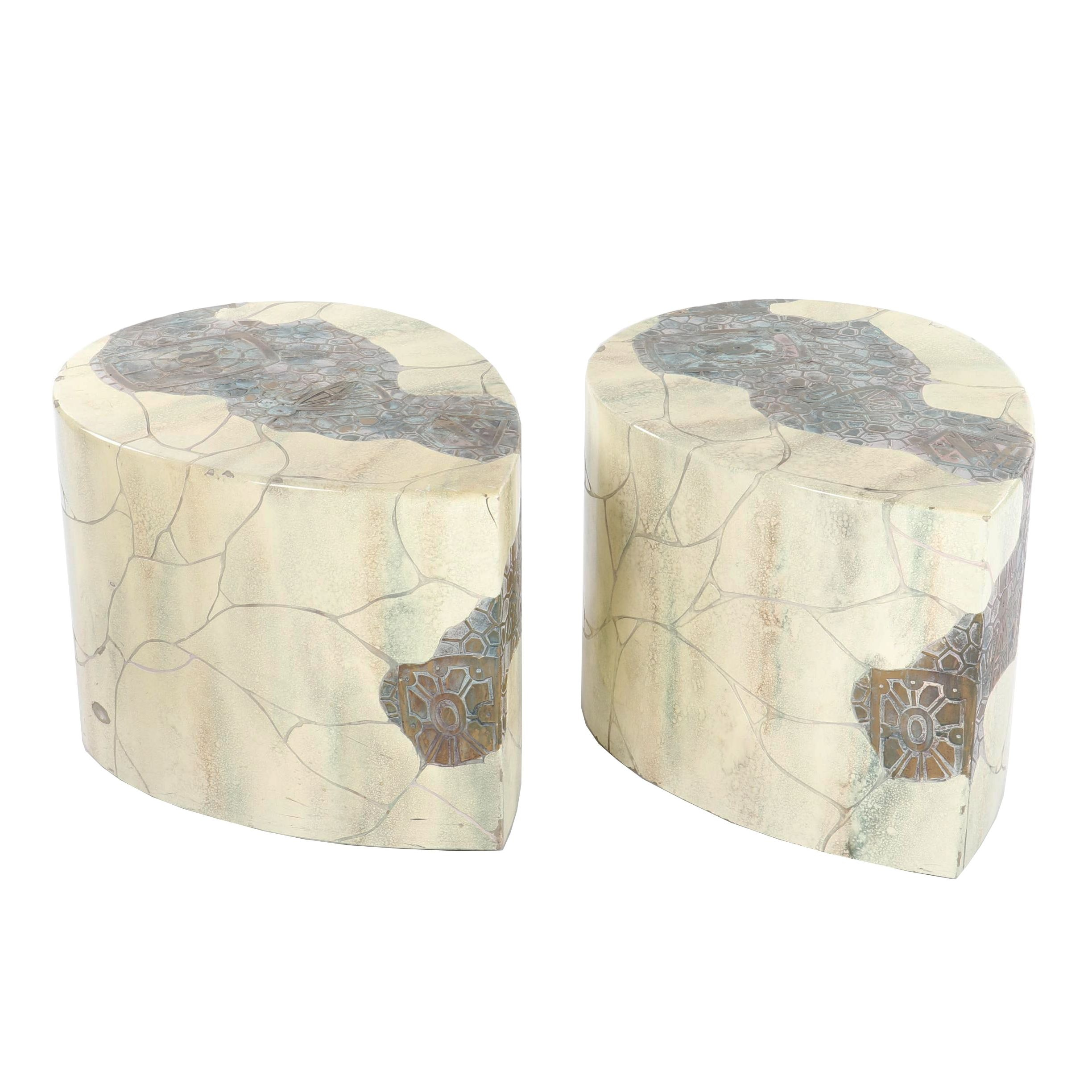Faux Stone Teardrop Stools, 20th Century