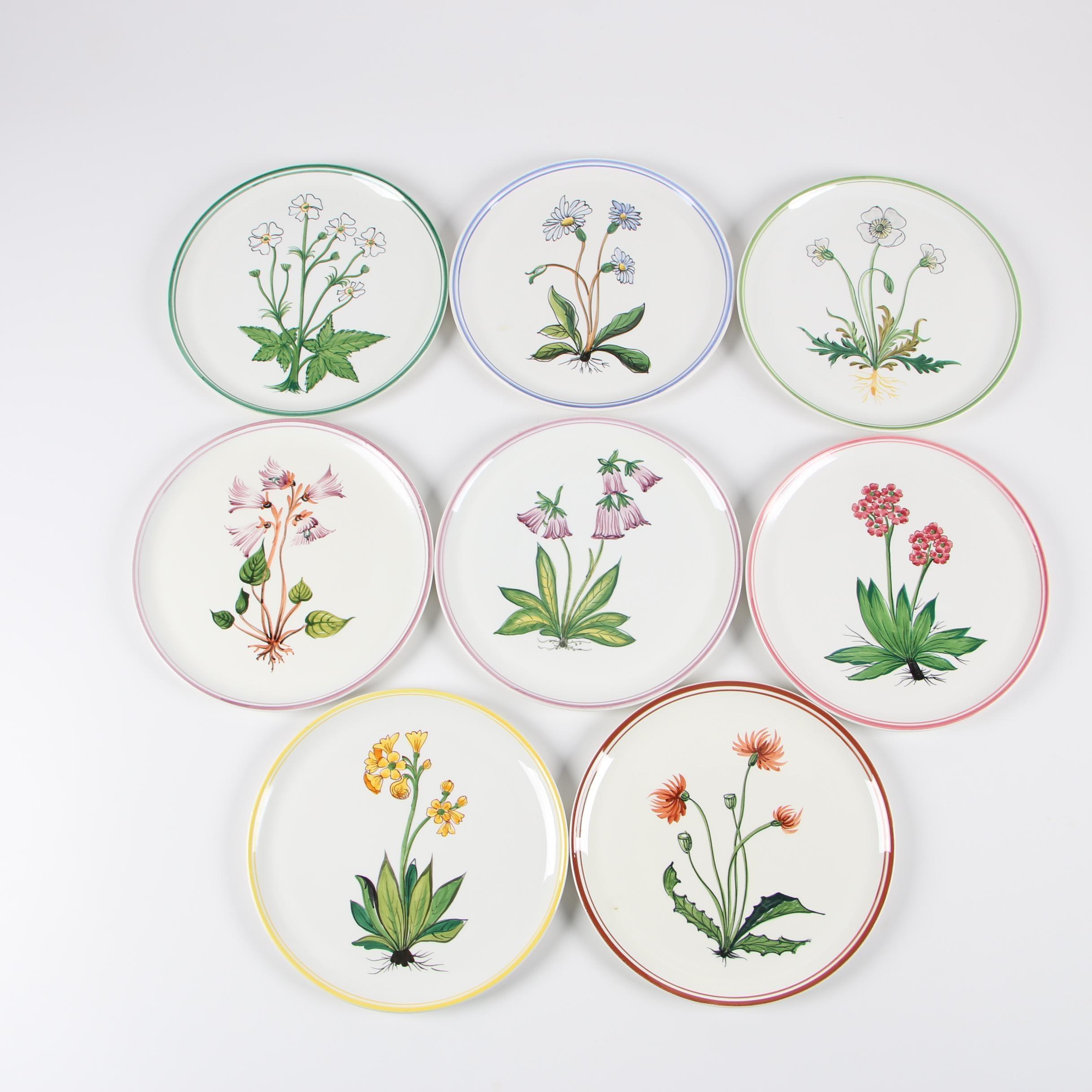 Italian Hand-Painted Ceramic Salad Plates