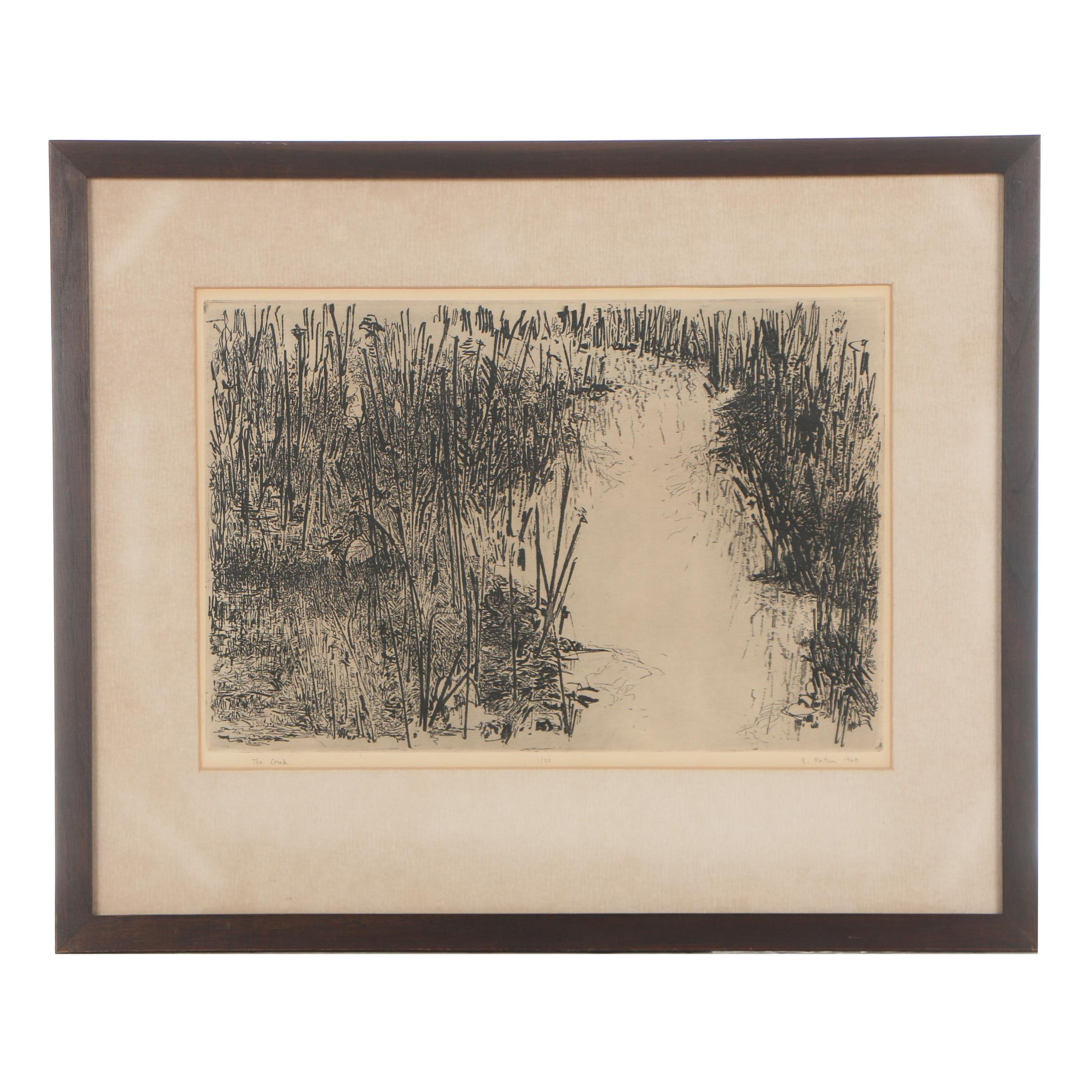 """E. Porter Limited Edition Etching """"The Creek"""""""