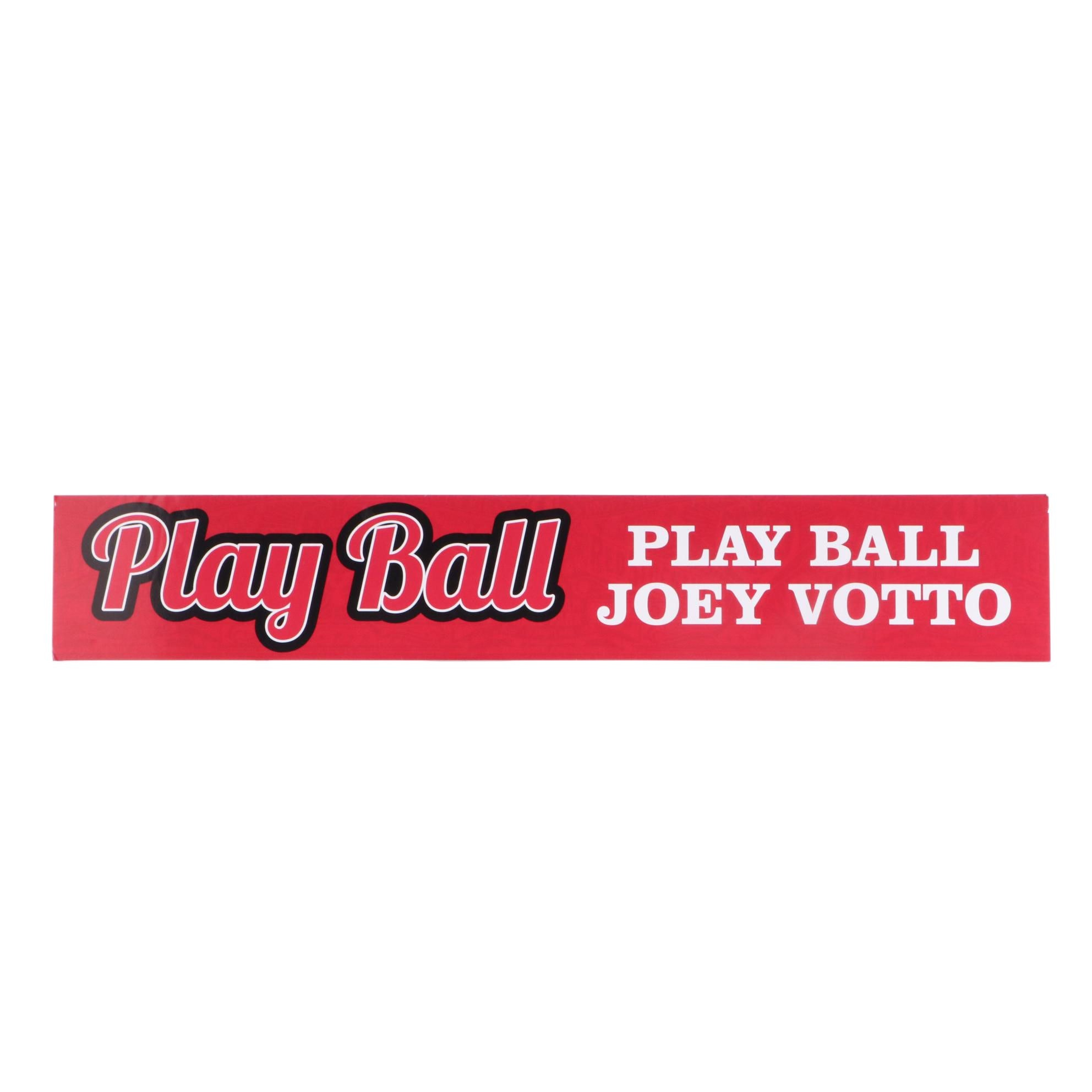 """Joey Votto """"Play Ball"""" Reds Hall of Fame Exhibit Sign"""