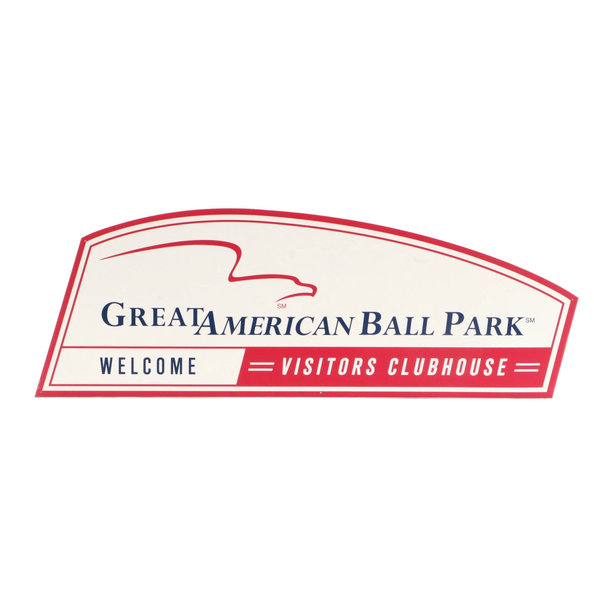 "Original Great American Ball Park ""Welcome Visitors Clubhouse"" Sign"