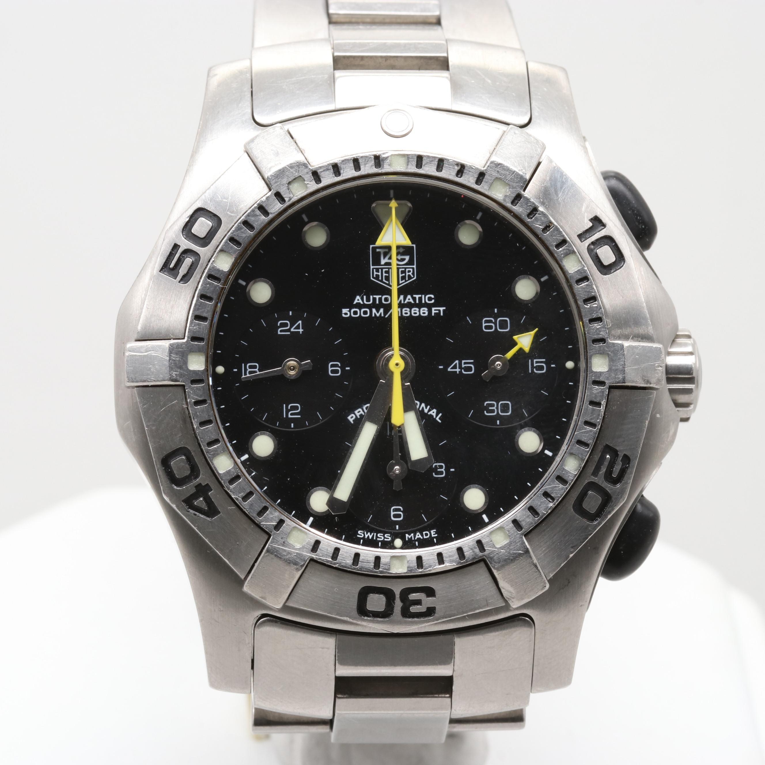 TAG Heuer 2000 Auquagraph Automatic Chronograph Wristwatch