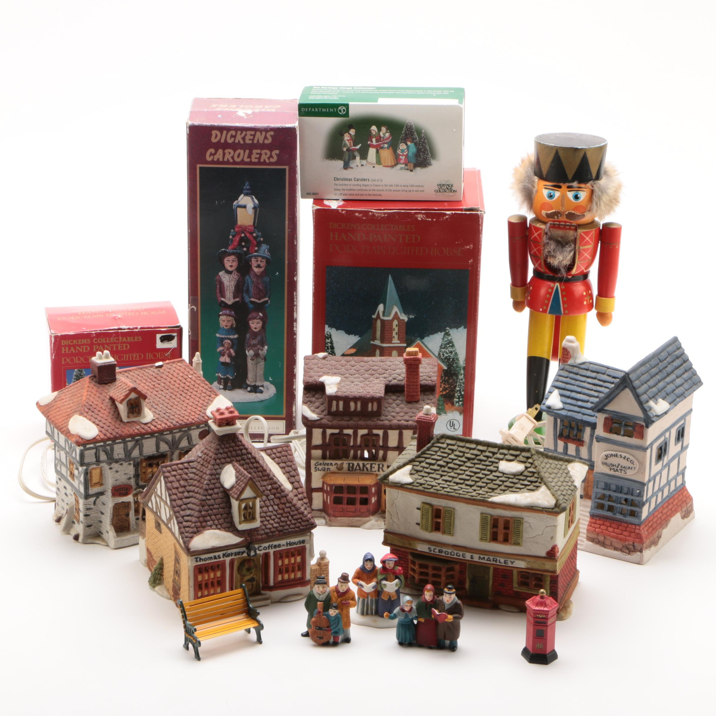 """Department 56 """"Dickens Village"""" Buildings and Accessories, 1980s"""