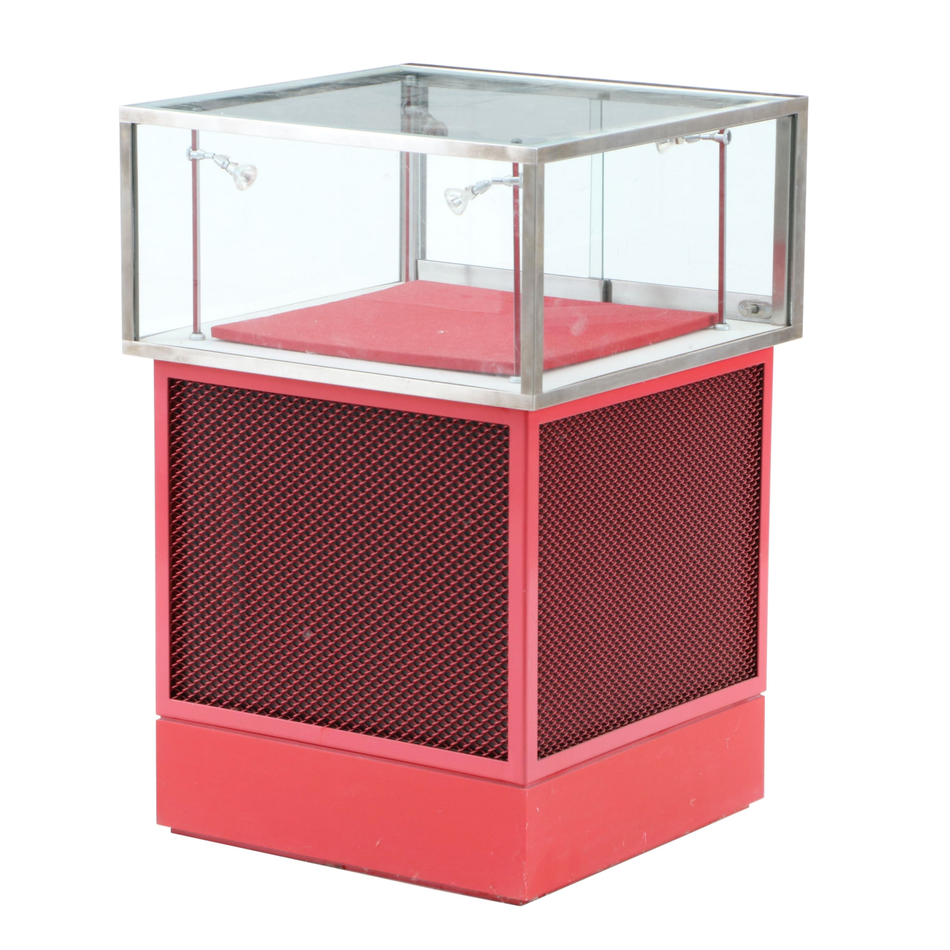 Cincinnati Reds Hall of Fame Upright Lighted Glass Display Case