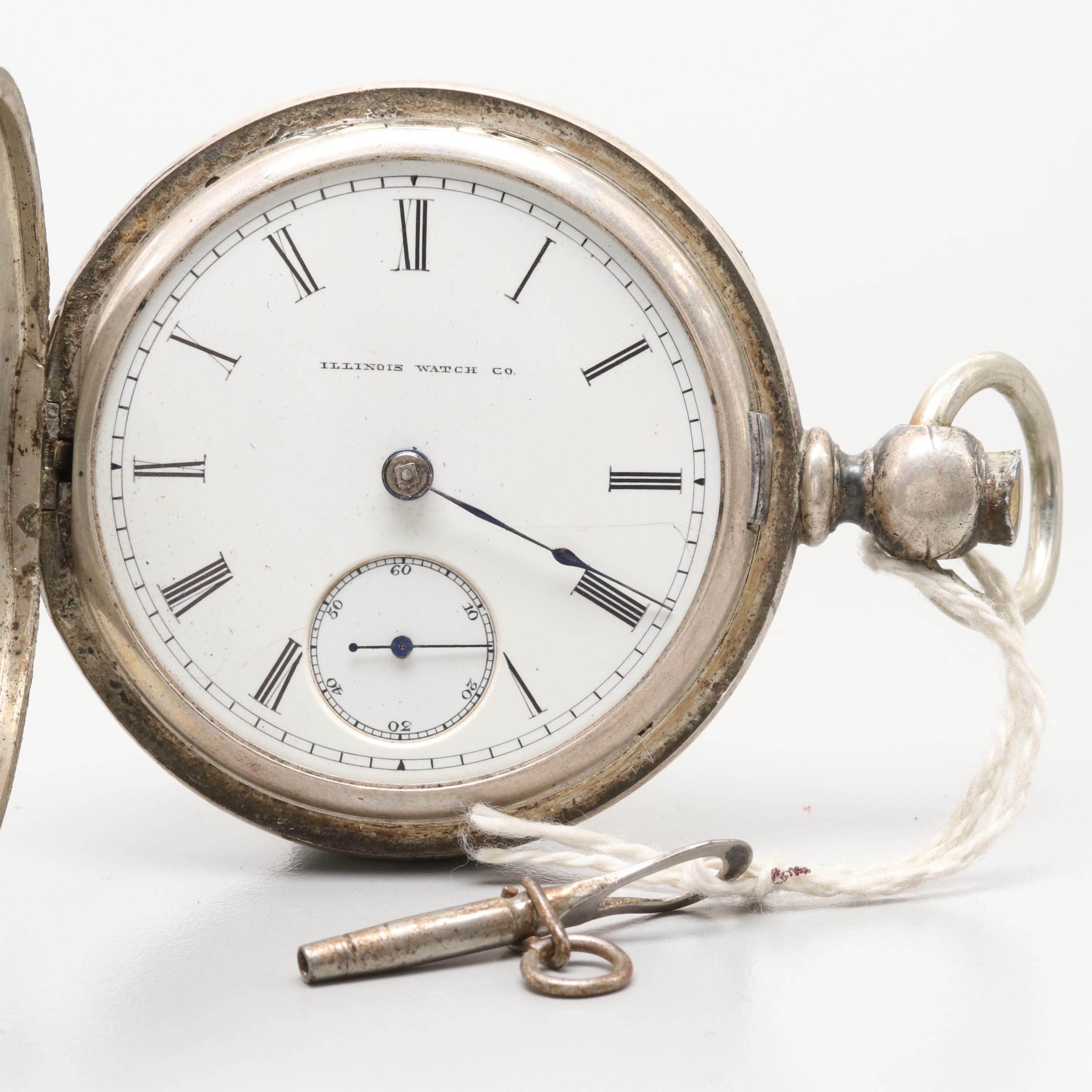 Illinois Coin Silver Hunting Case Pocket Watch, 1887