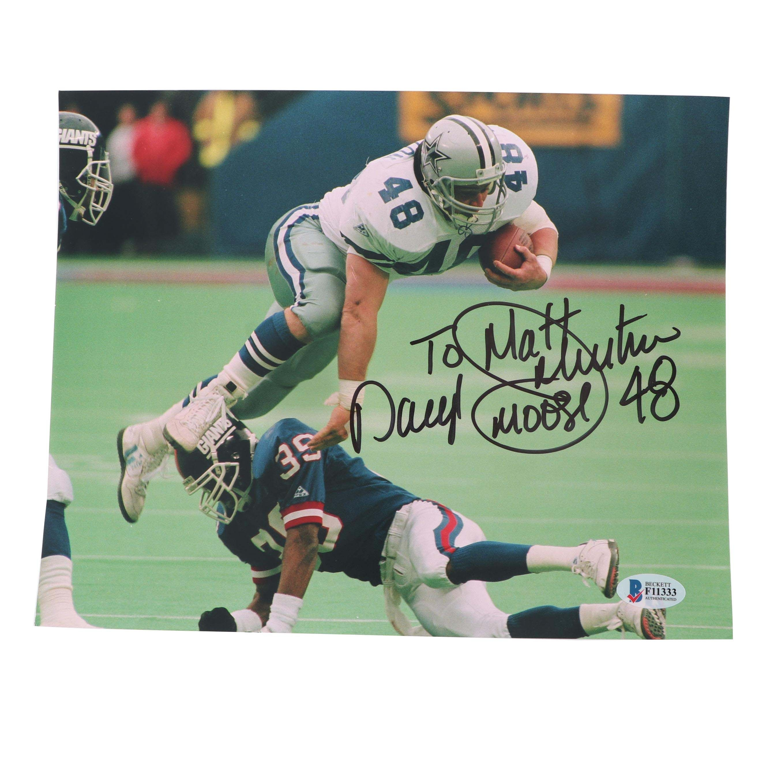 "Daryl ""Moose"" Johnston Autographed Photo - Beckett COA"
