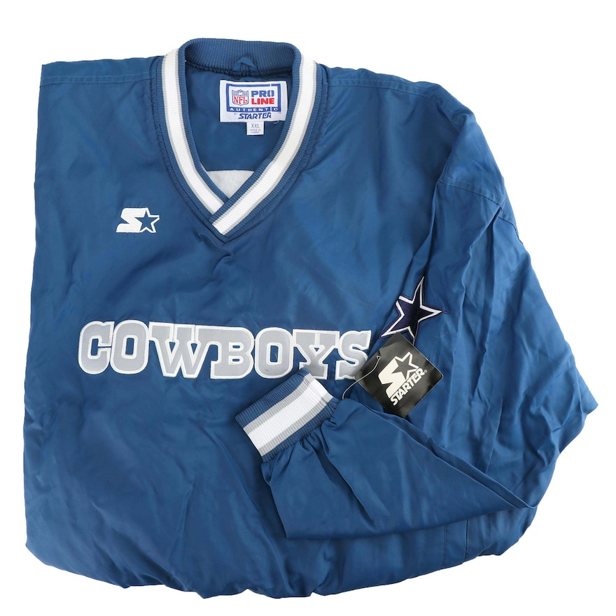 reputable site 65e69 dd322 Vintage NFL Pro Line Dallas Cowboys Authentic Starter Pullover Jacket