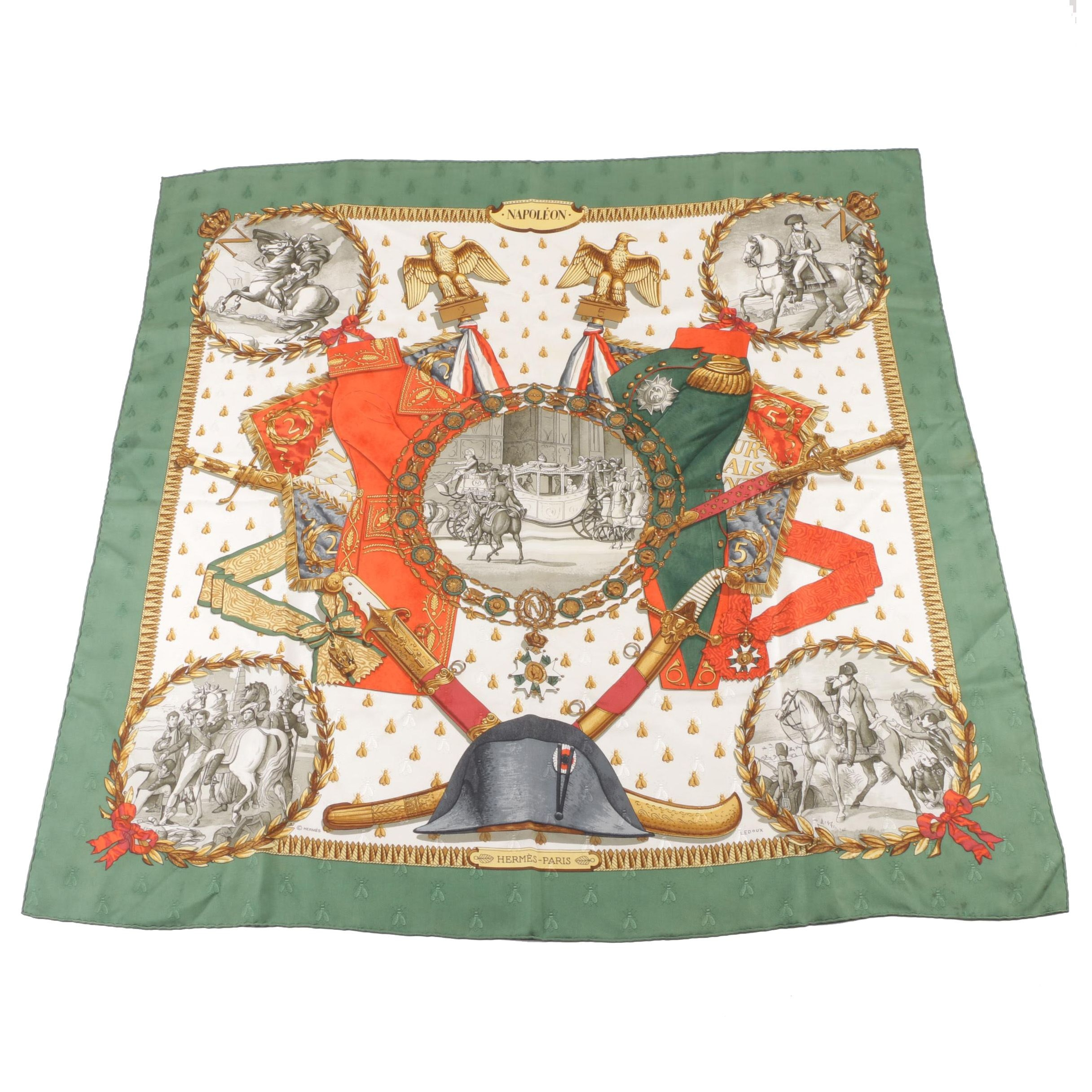 "Hermès of Paris ""Napoléon"" Silk Scarf"