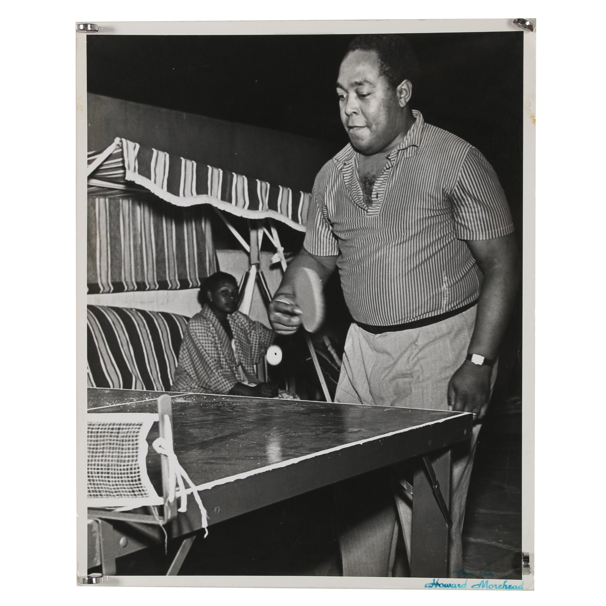 Howard Morehead Gelatin-Silver Photograph of Charlie Parker
