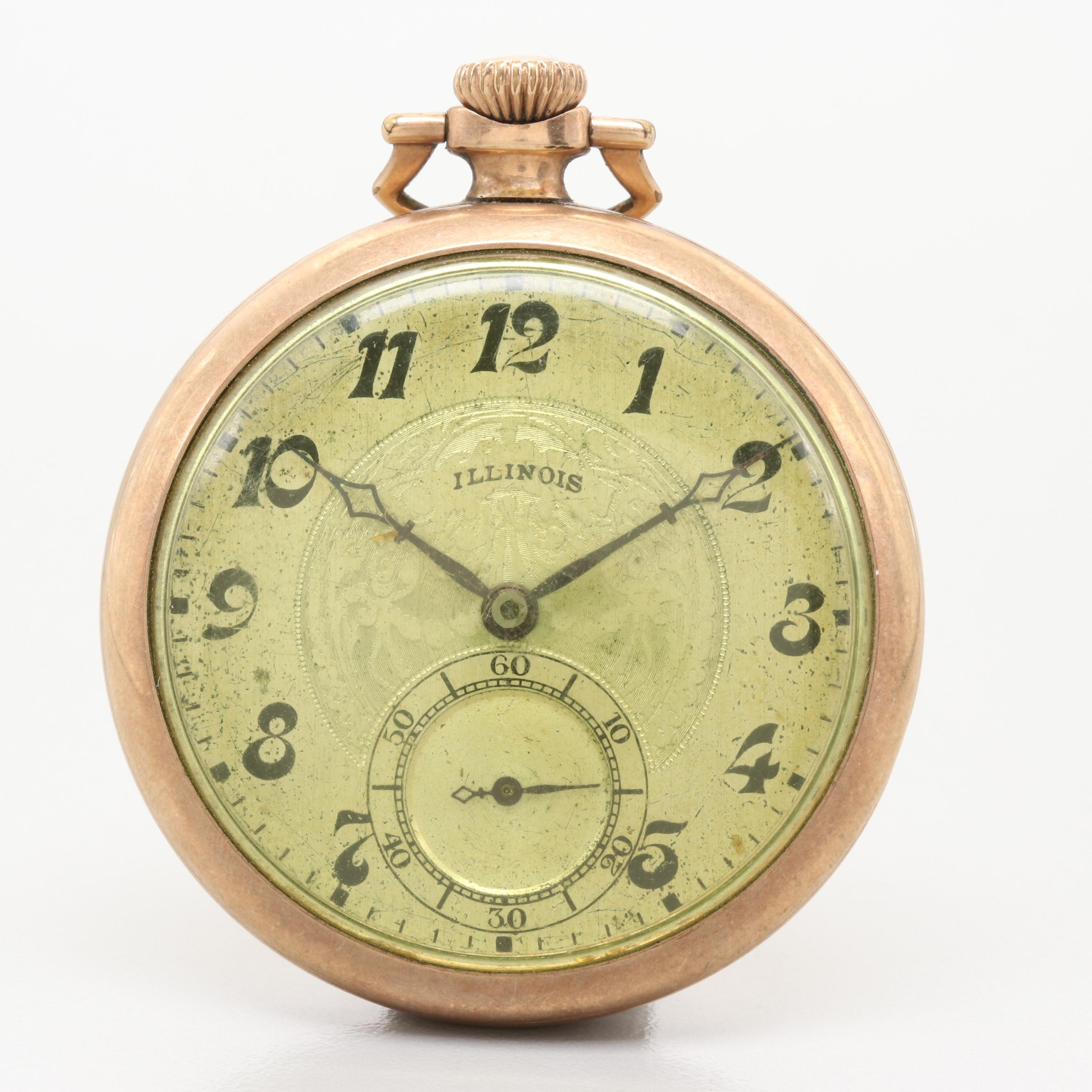 Illinois 10K Gold Filled Pocket Watch, 1926