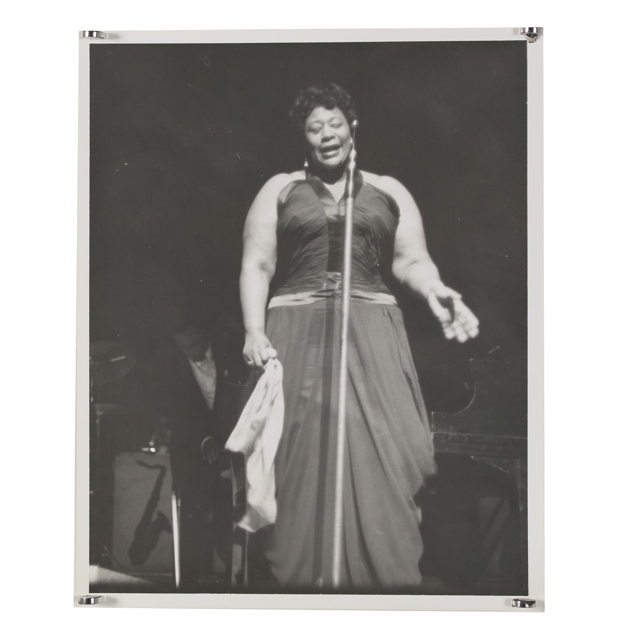 Jack Bradley Gelatin-Silver Photograph of Ella Fitzgerald