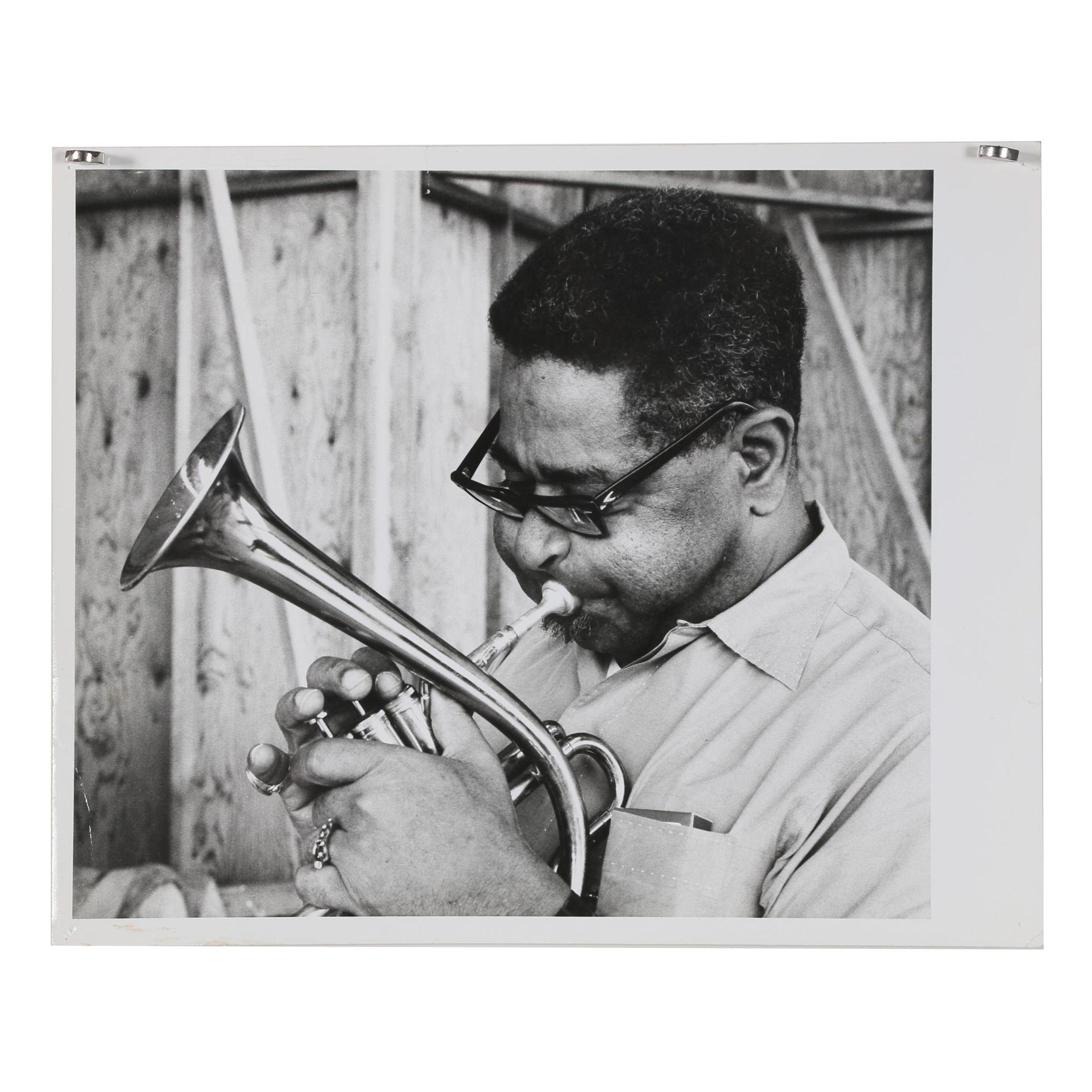 Jack Bradley Gelatin-Silver Photograph of Dizzy Gillespie