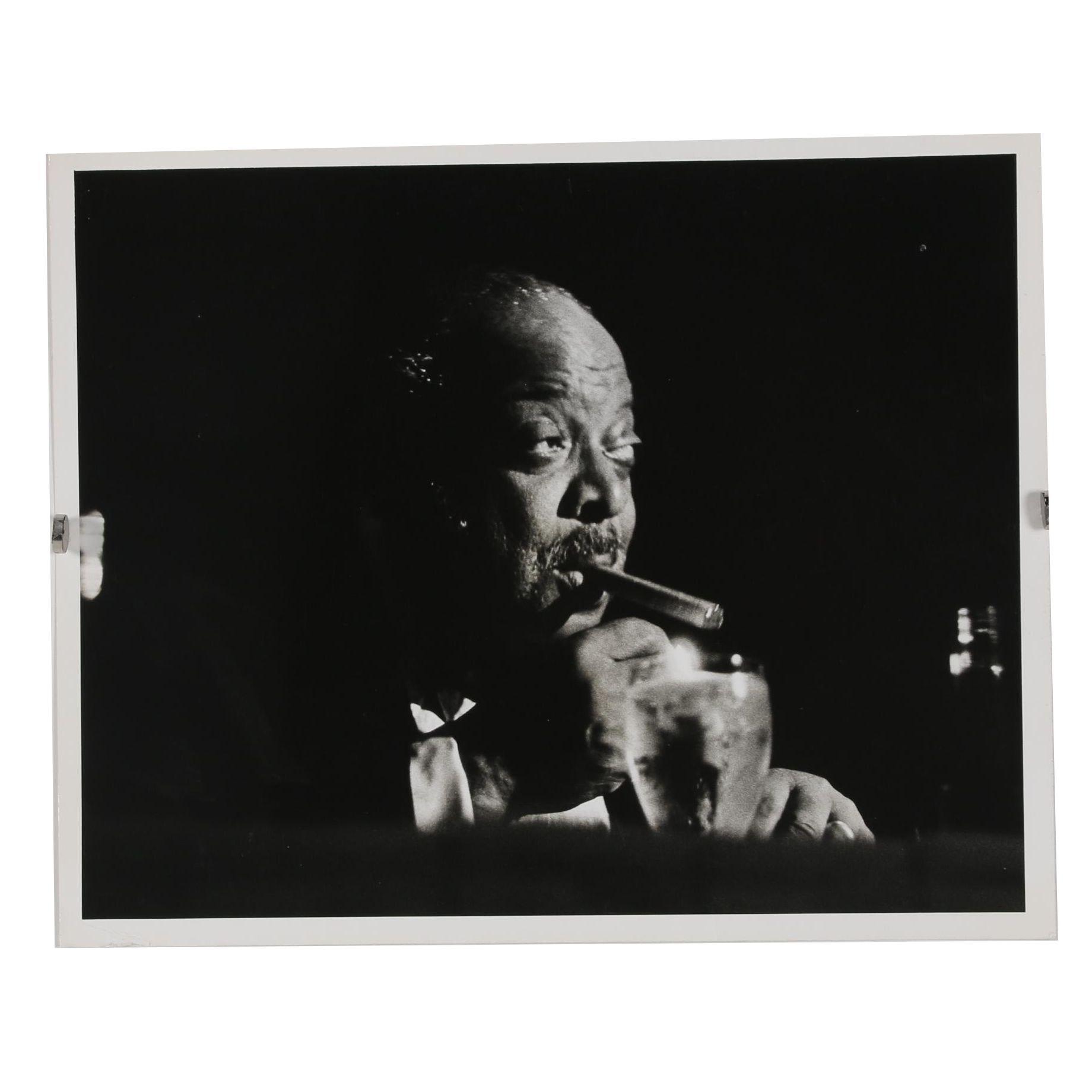 Jack Bradley Gelatin-Silver Photograph of Count Basie