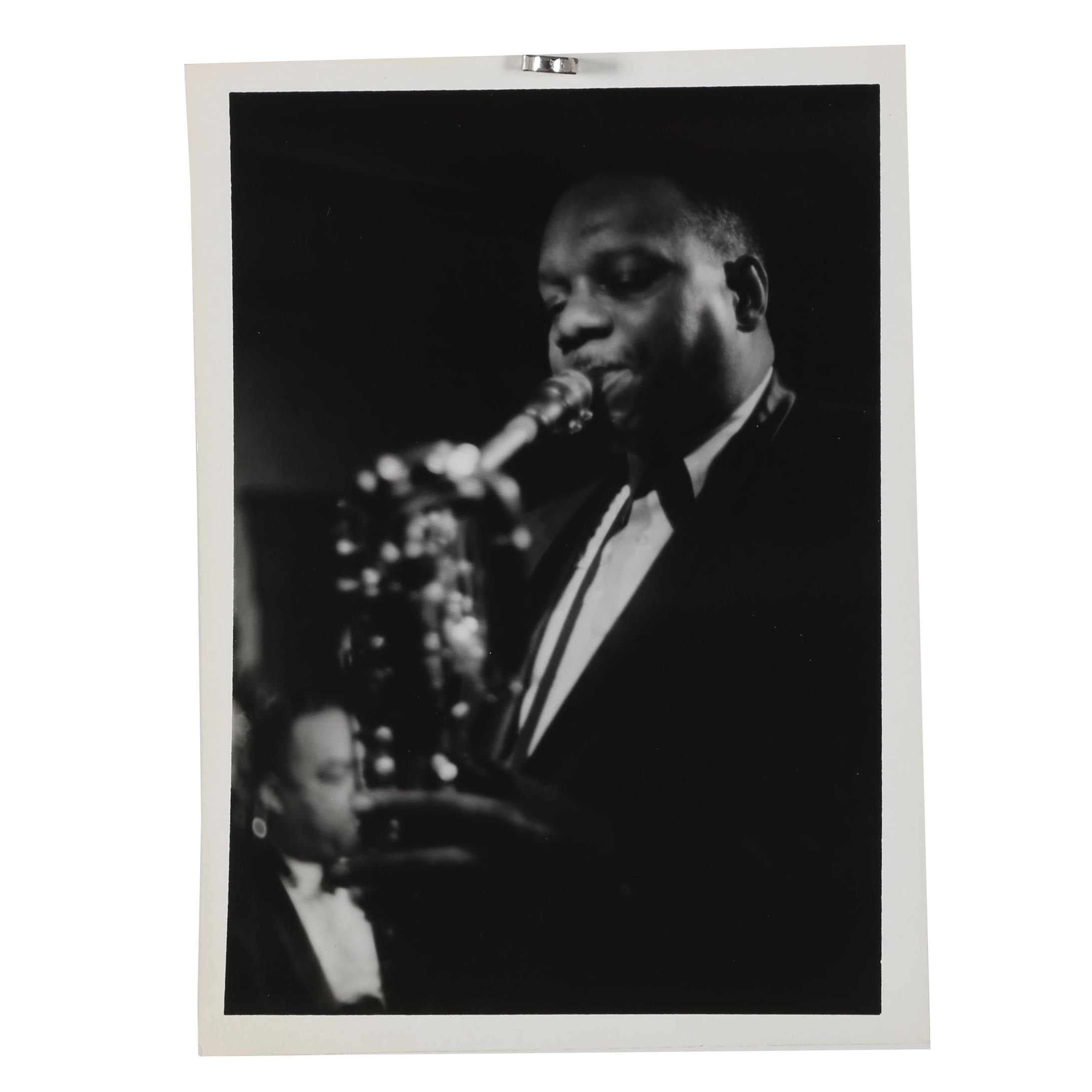 Jack Bradley Silver Gelatin Photograph of Baritone Sax Player Harry Carney