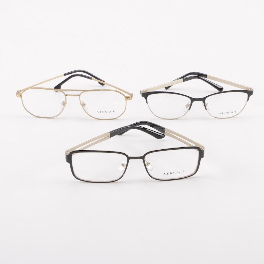 b99b3138bfc Versace Eyeglass Frames with Medusa Head Accents   EBTH