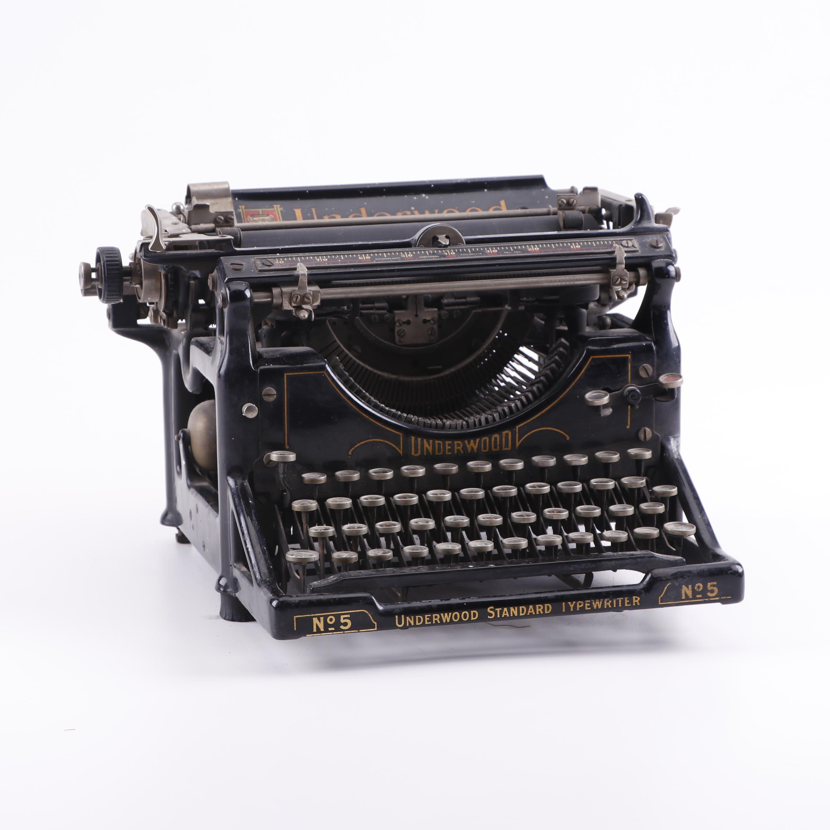 Underwood No. 5 Standard Typewriter, Early 20th Century