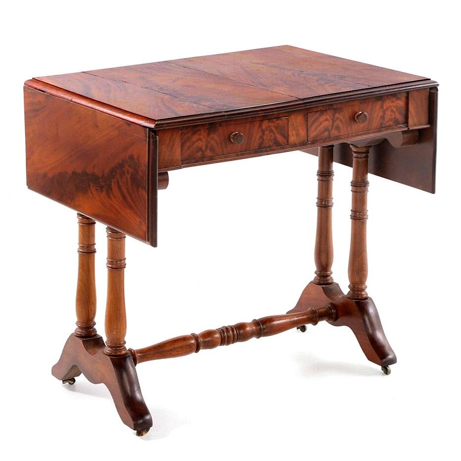 Victorian Mahogany Sofa Table, Mid 19th Century